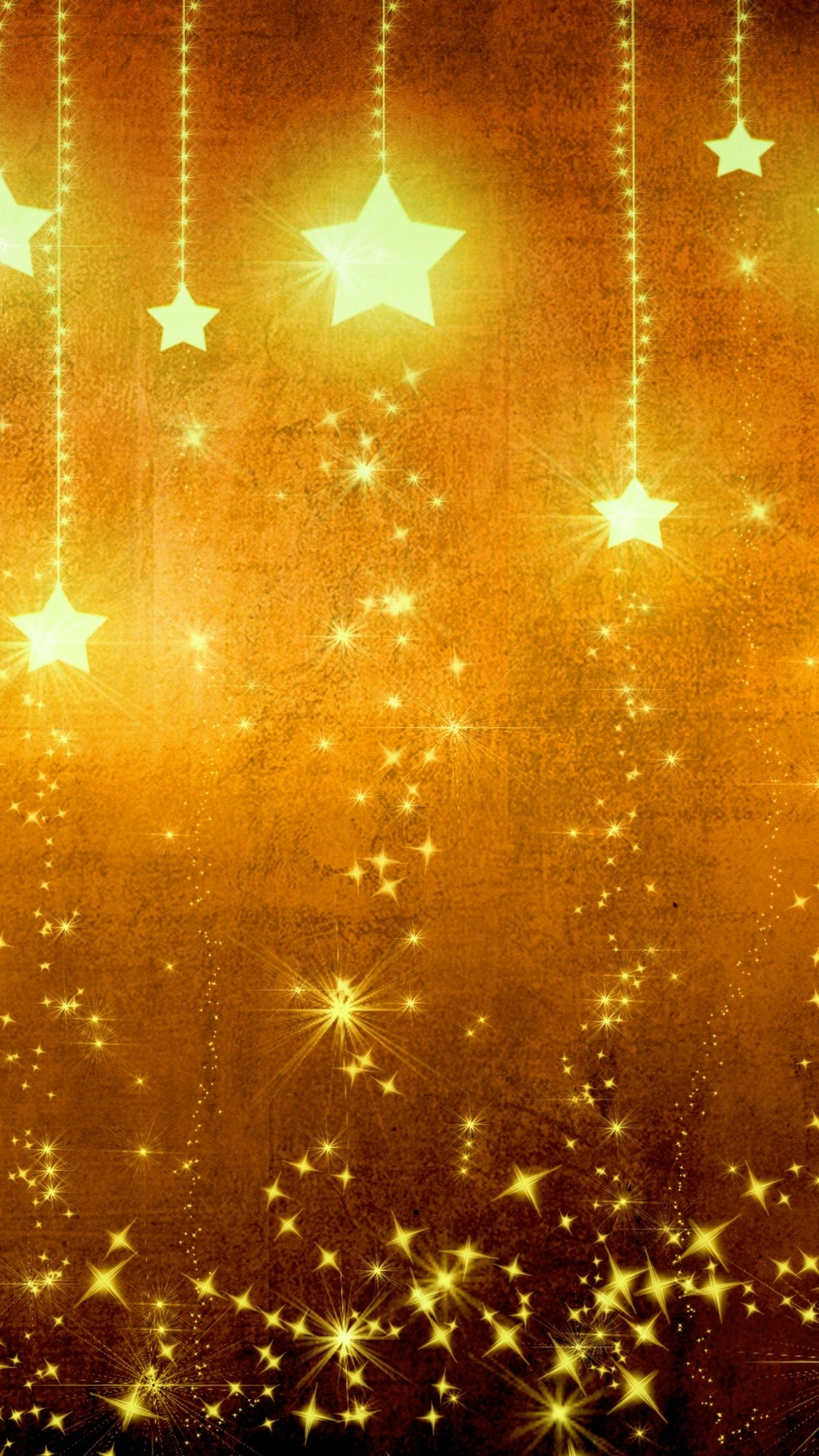 1080x1920 Star Gold Holiday Background Brown Yellow Light Texture iPhone 6 wallpaper