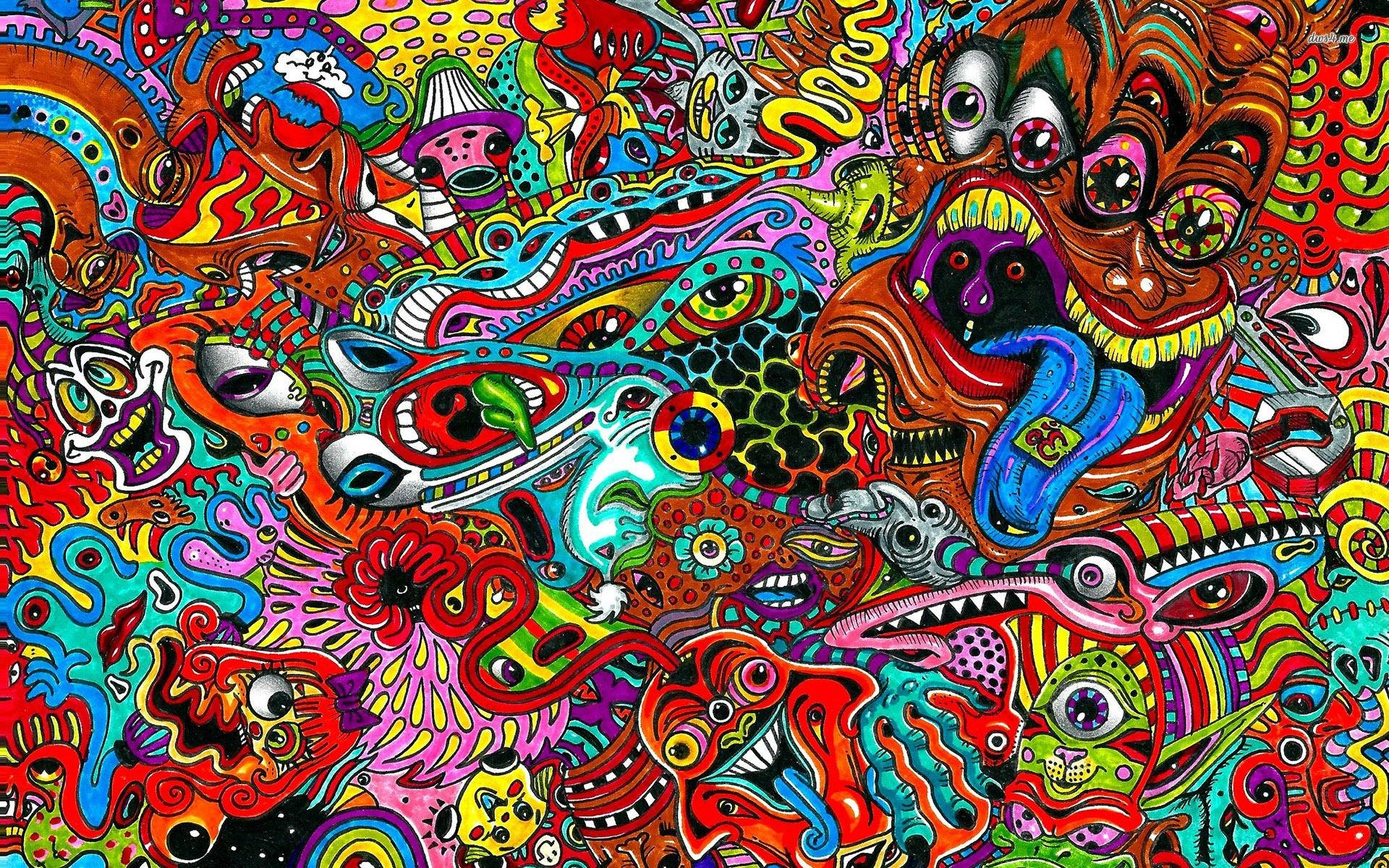 trippy hippie wallpaper 54 images
