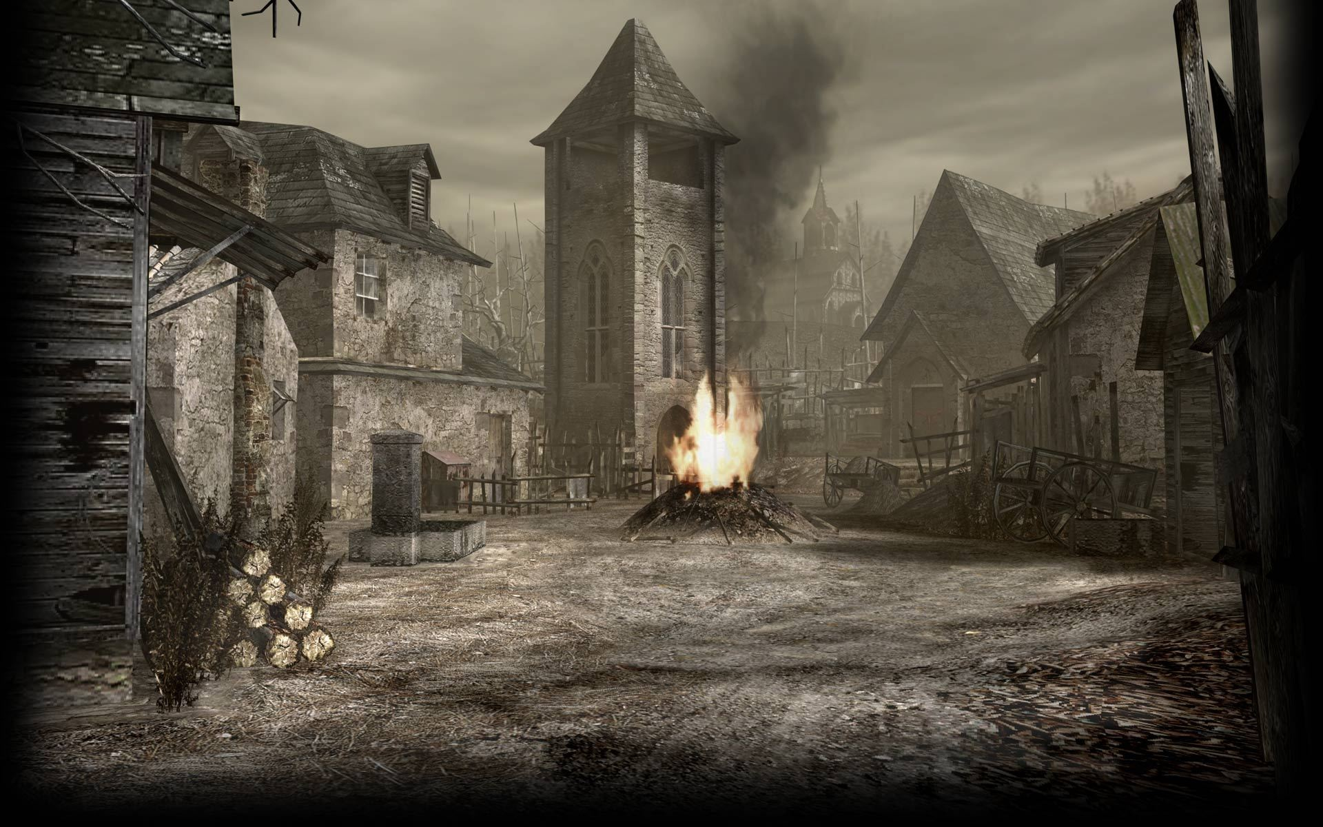 1920x1200 Image - Resident Evil 4 Biohazard 4 Background RE4 Village.jpg | Steam  Trading Cards Wiki | FANDOM powered by Wikia