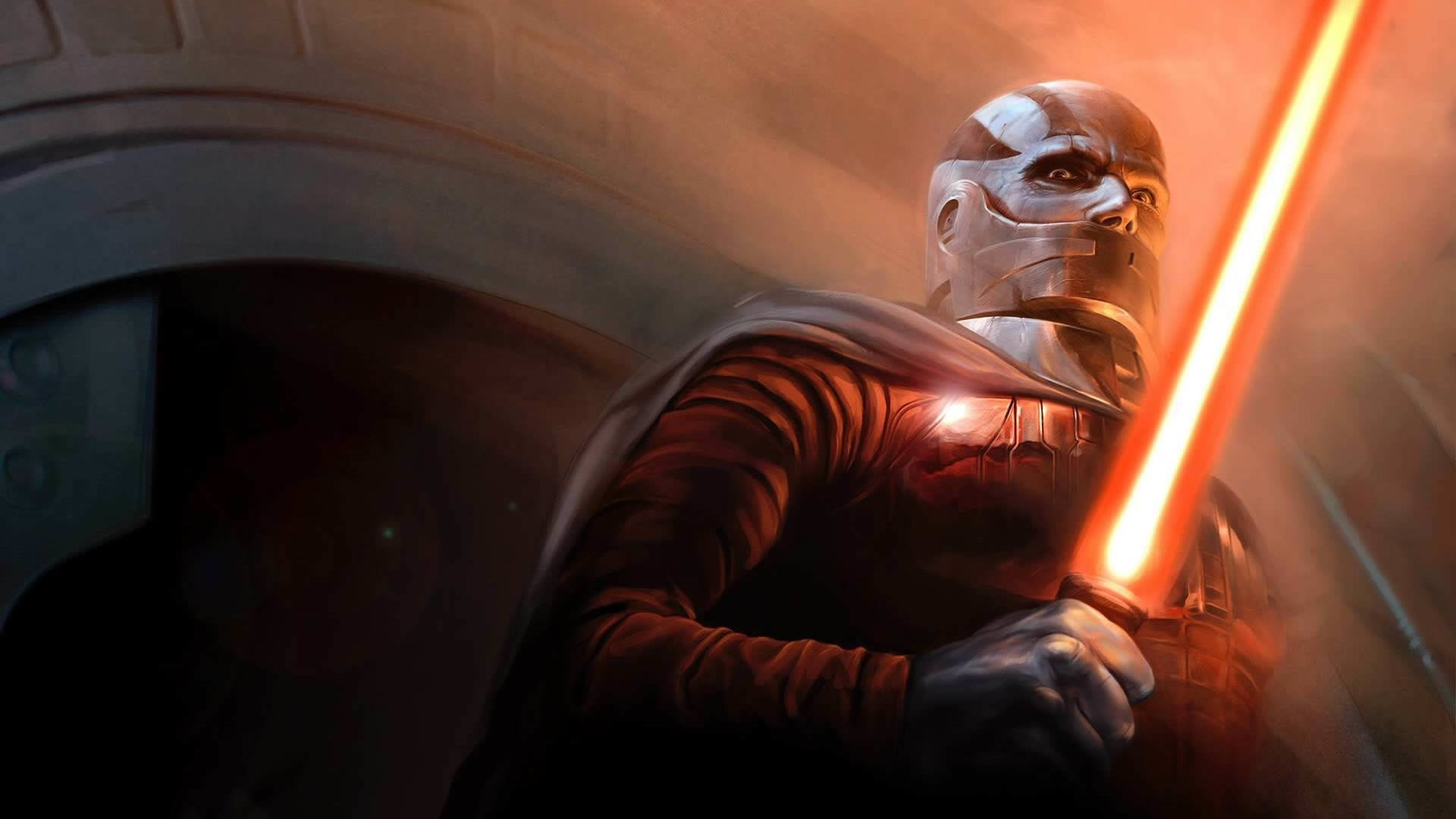 1920x1080 Preview wallpaper star wars the old republic, bald, character, lightsaber,  cloak