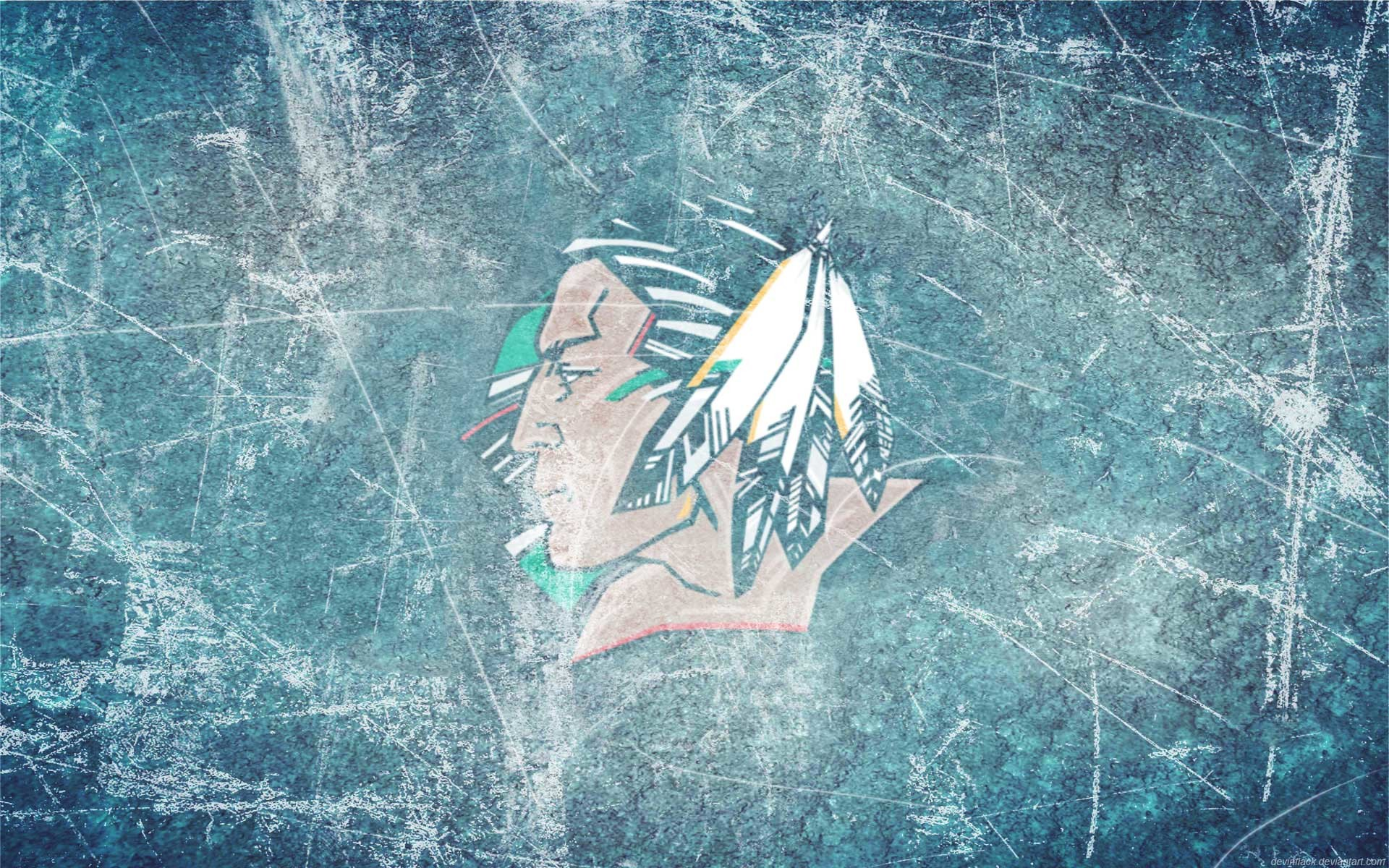 1920x1200 Fighting Sioux Black Ice wallpaper