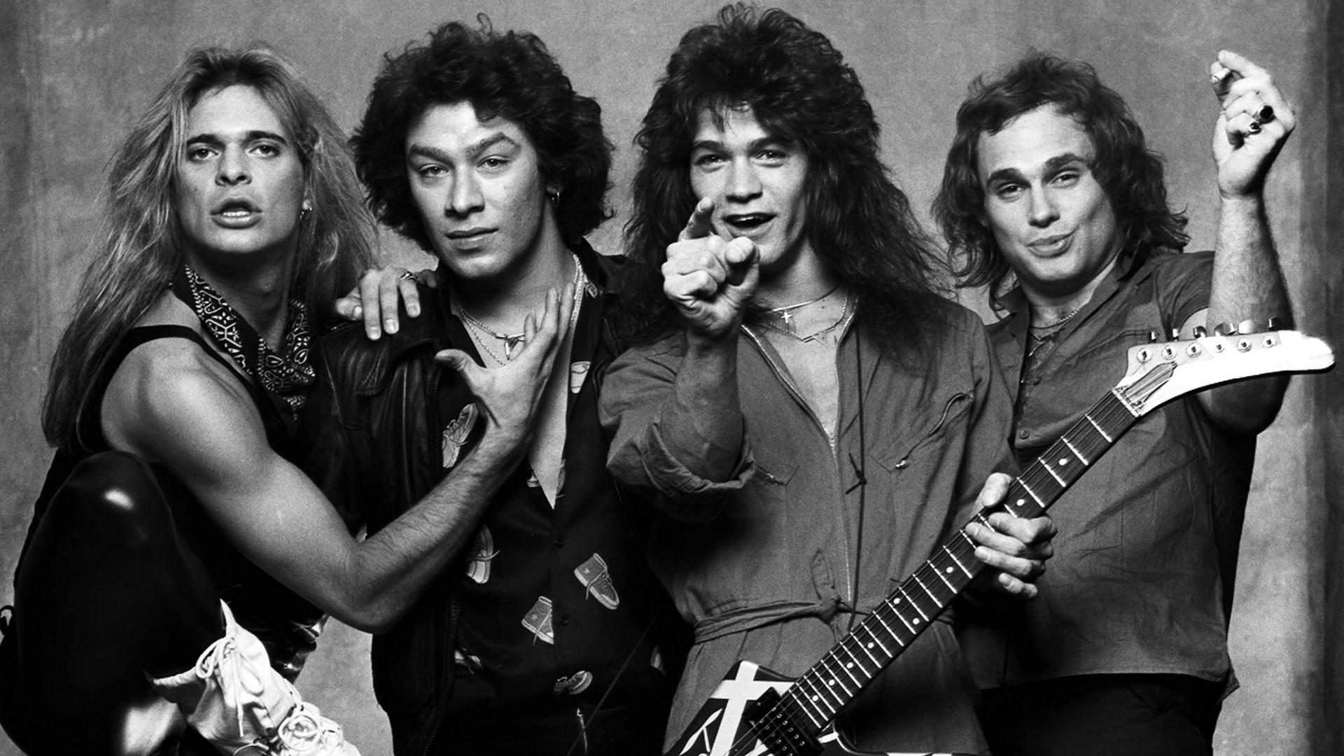 1920x1080 Wallpaper Van halen, Mark stone, Michael anthony, Sammy hagar, Mitch  malloy, Gary cherone, Bw HD, Picture, Image
