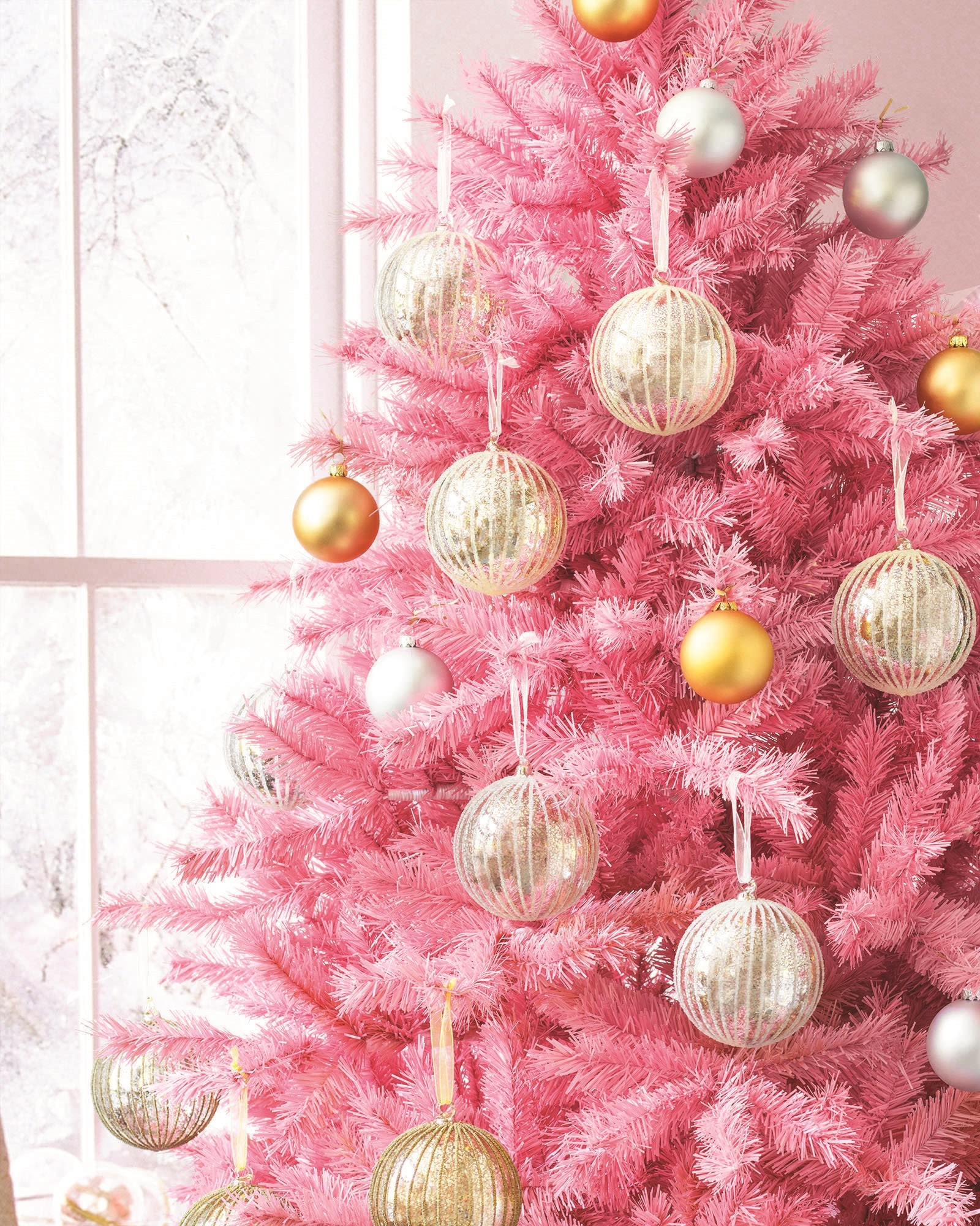 Pink And White Christmas Tree: Pink Christmas Wallpaper (61+ Images