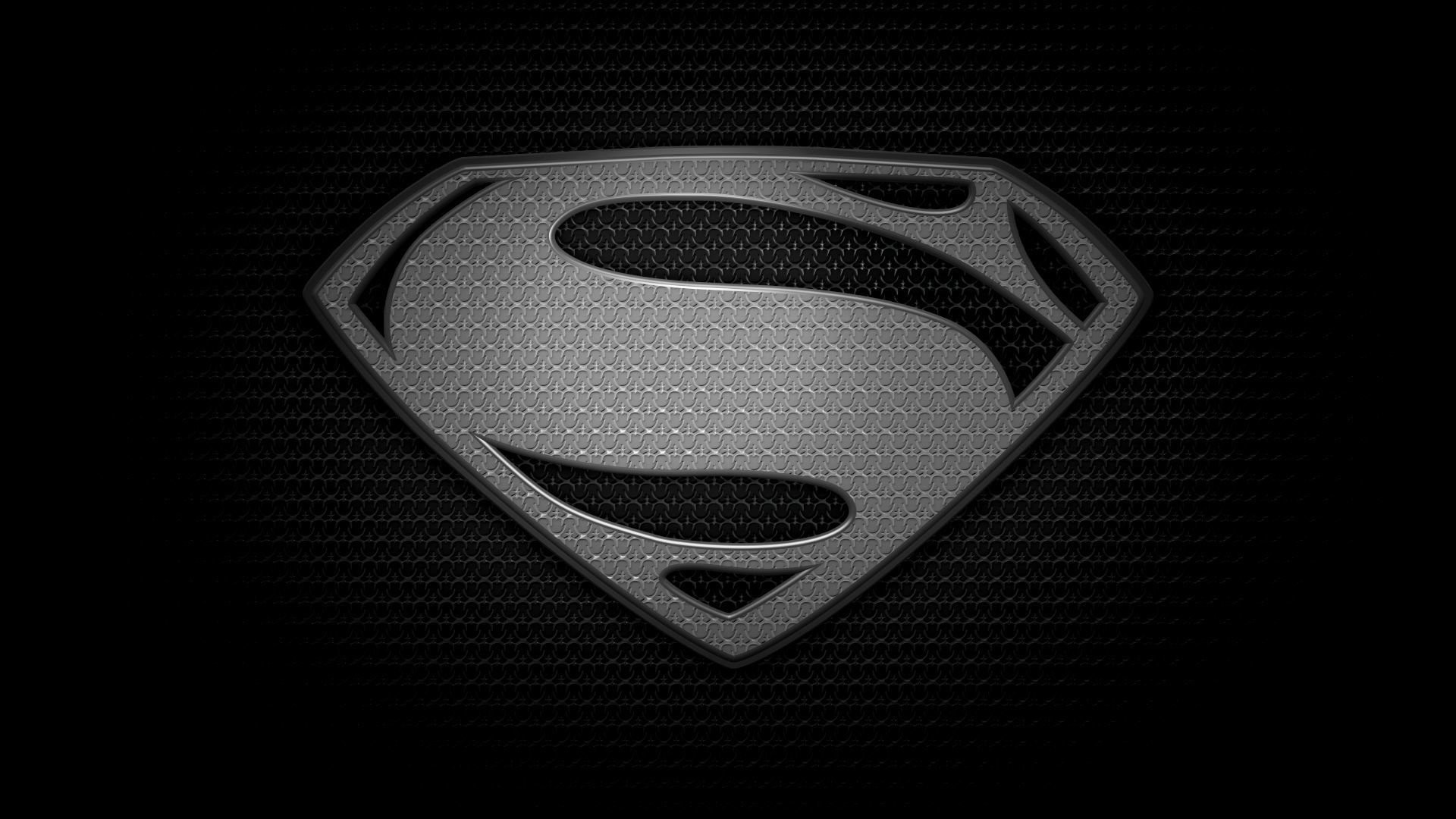 1920x1080 Man Of Steel Logo S Superman Black