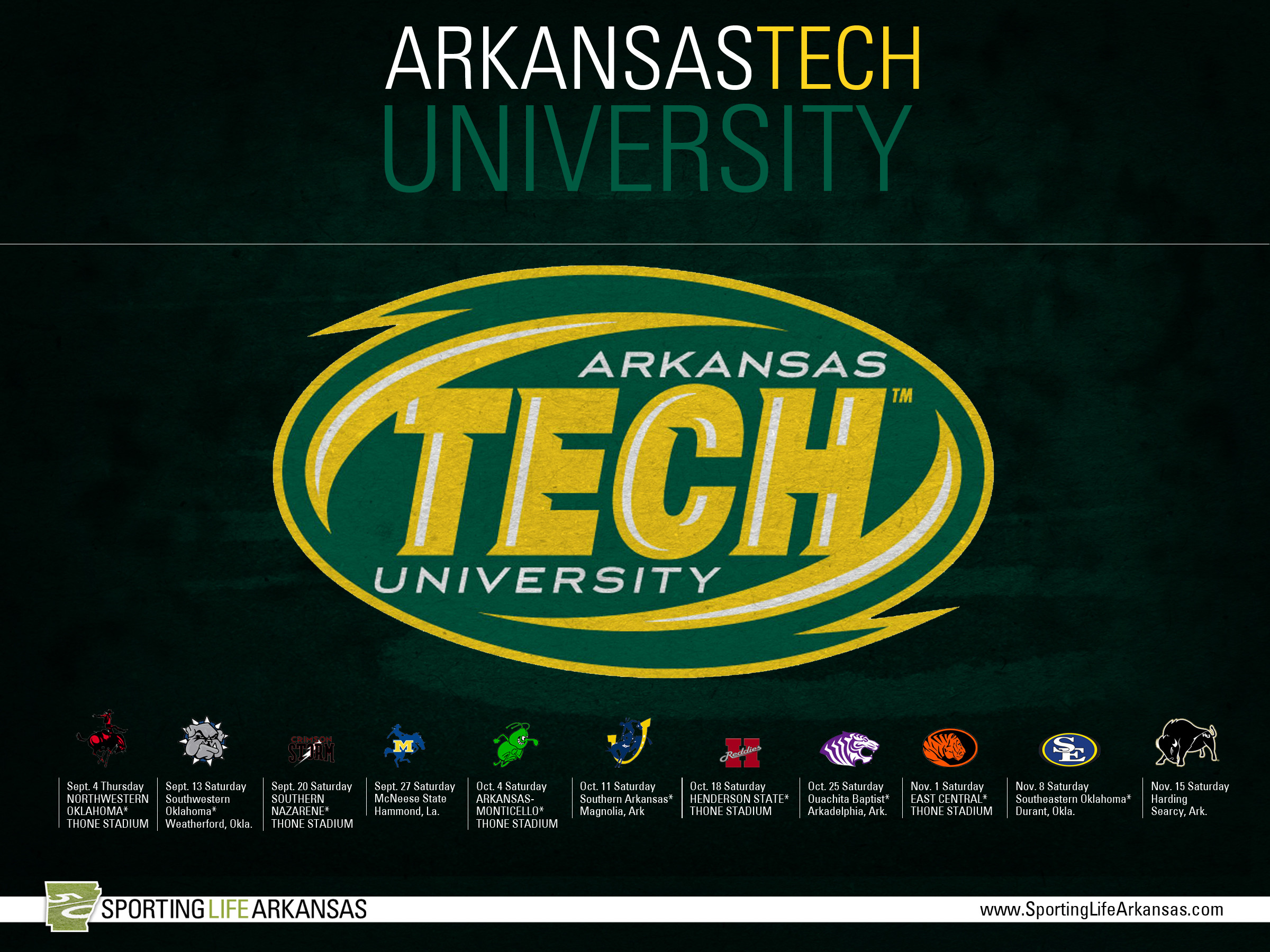2400x1800 ... 2014 Arkansas Tech Wonder Boys Football Schedule Wallpaper