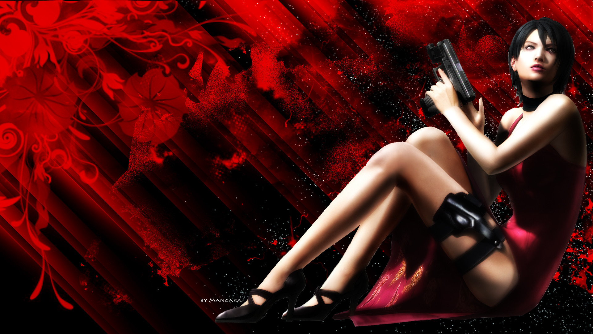 1920x1080 ... Ada Wong Red Wallpaper by lazymanga-ka