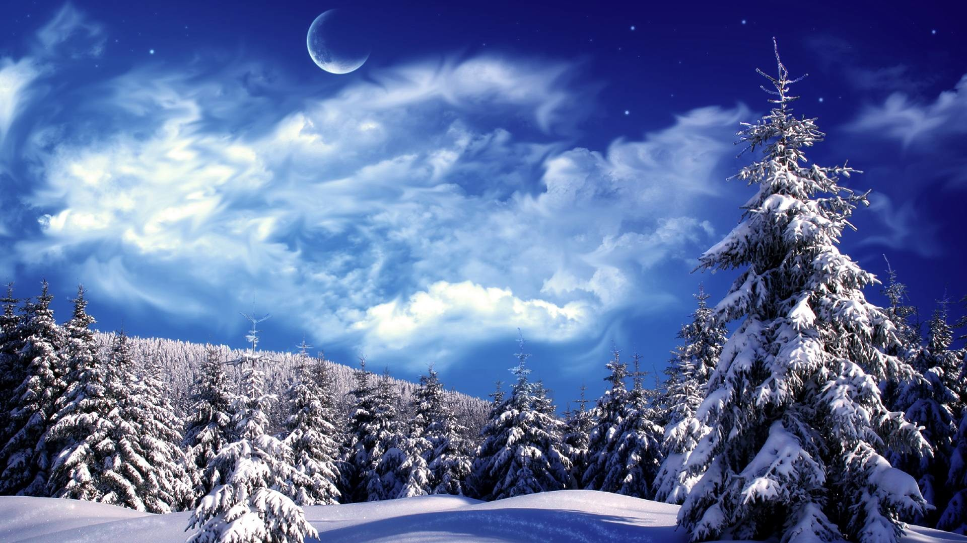 1920x1080 Winter Wonderland Wallpaper Wide or HD | Fantasy Wallpapers