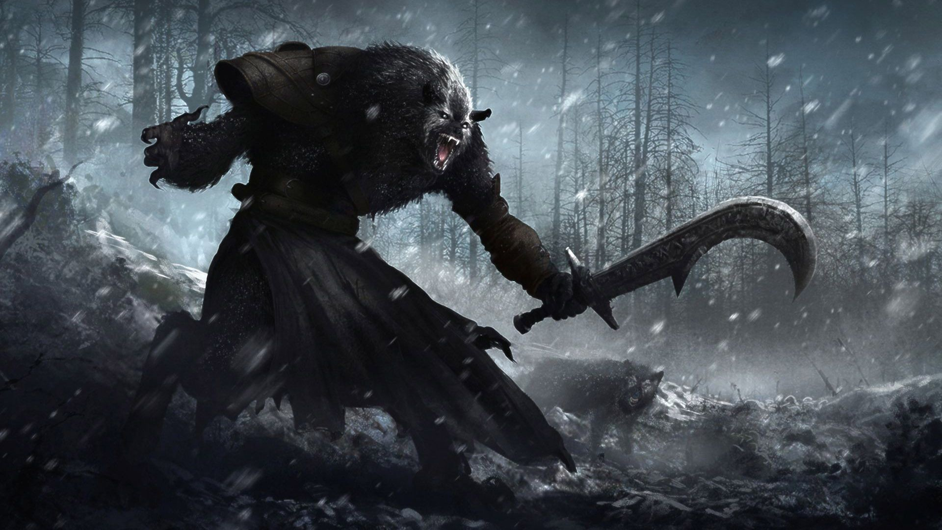 1920x1080 Werewolf with a machete, fantasy,  HD Wallpaper and FREE .