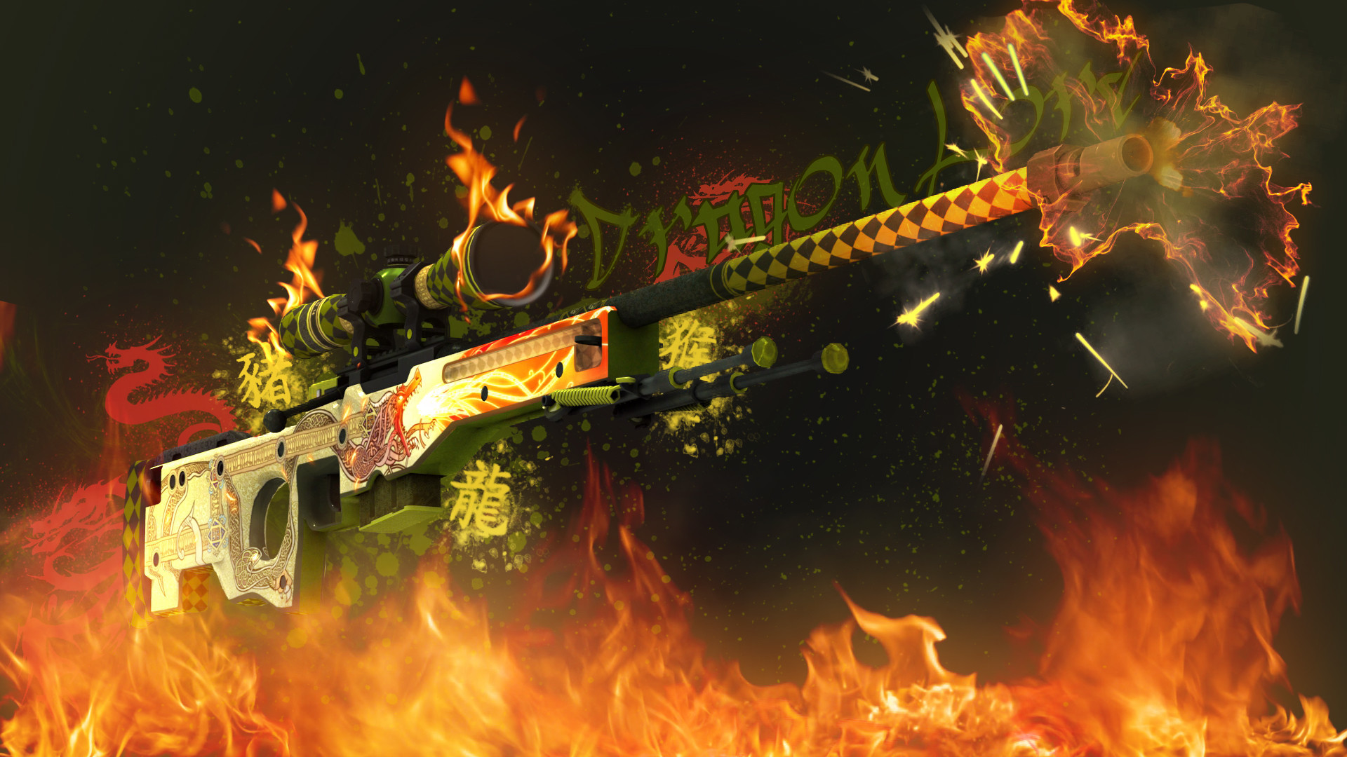 1920x1080  AWP Dragon Lore | CS:GO Wallpapers