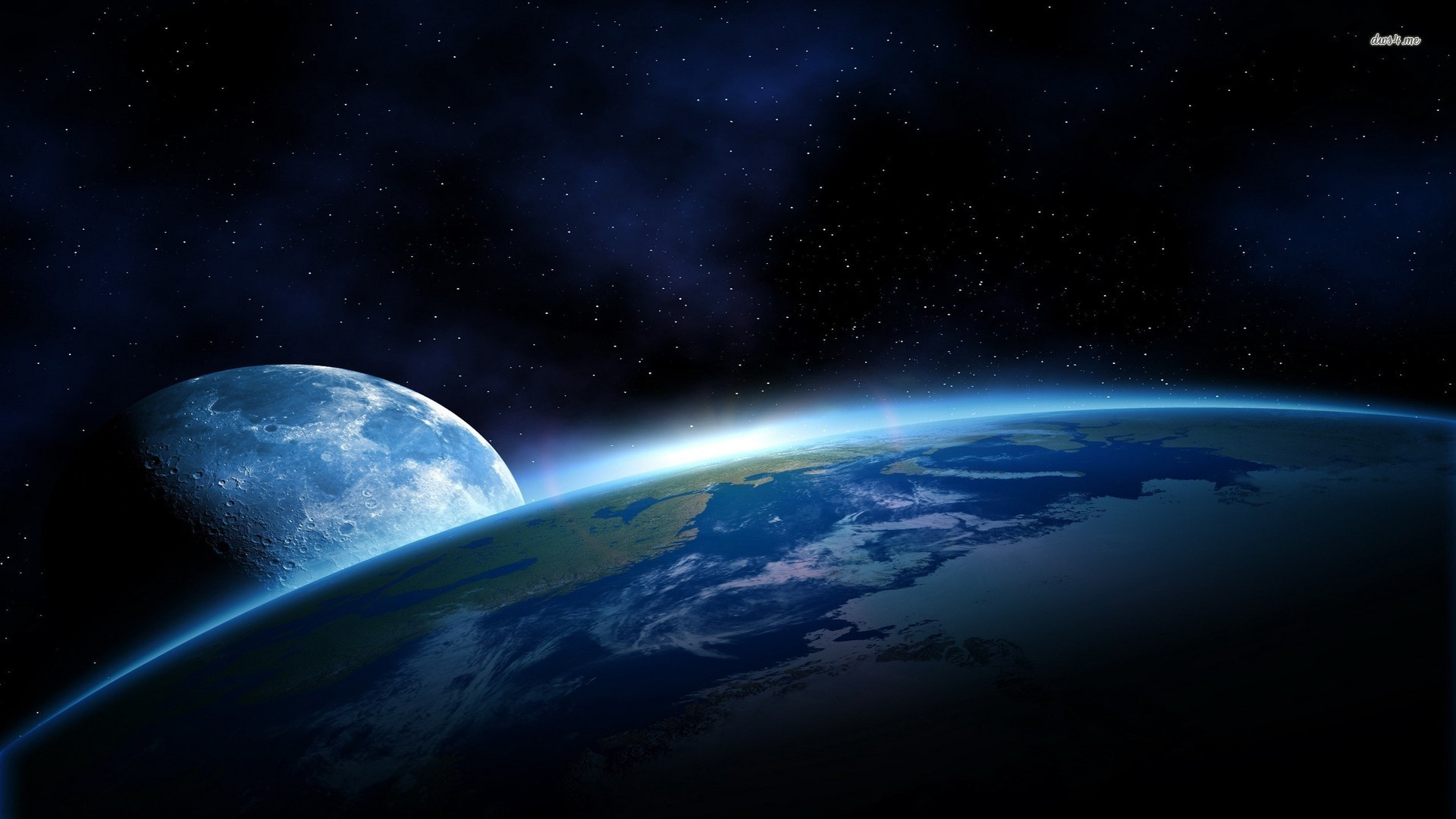 Planet Earth From Space Wallpaper: Earth From Moon Wallpaper (62+ Images