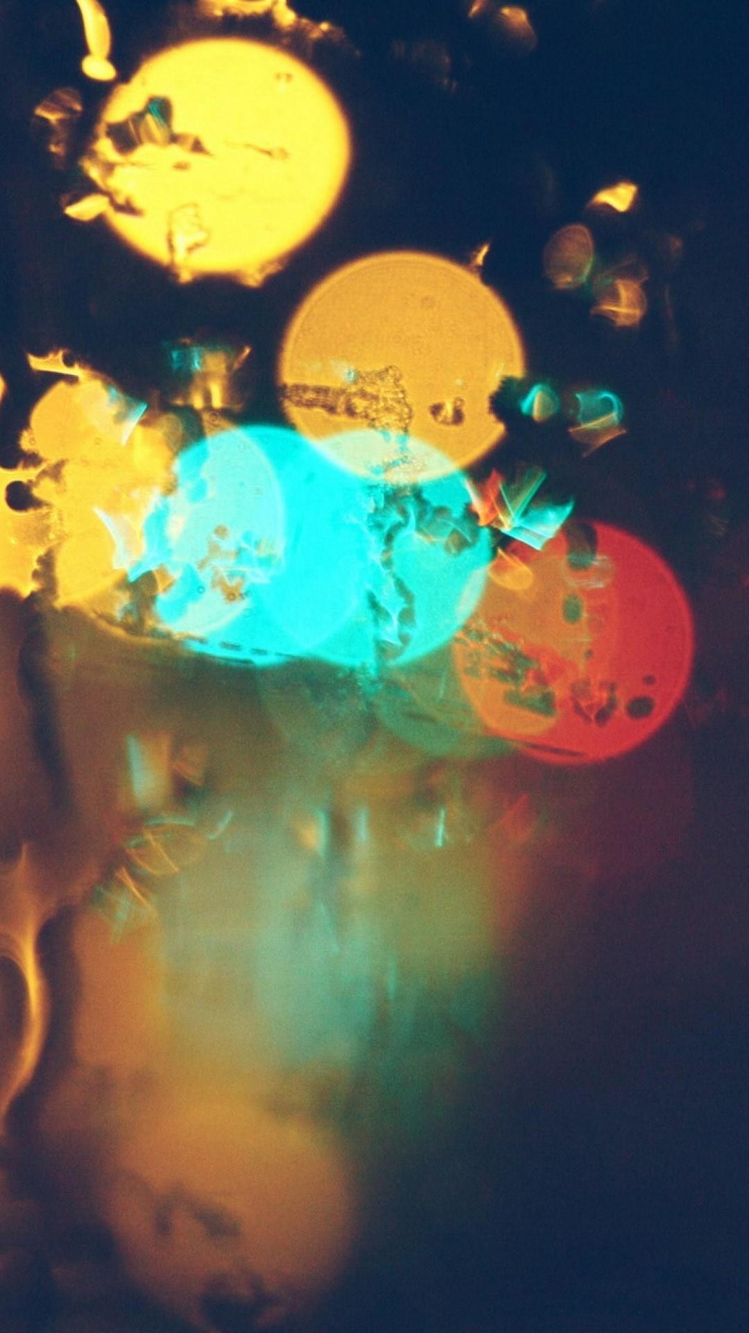 1080x1920 City Lights Bokeh Rain Glass IPhone 7 Plus HD Wallpaper