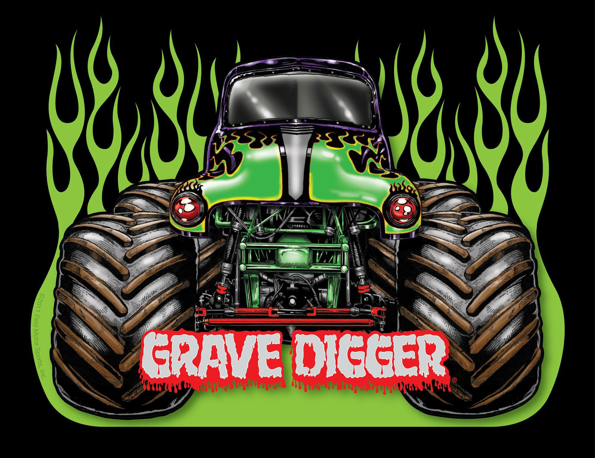 2000x1541 Monster Trucks Grave Digger Wallpaper Clipart