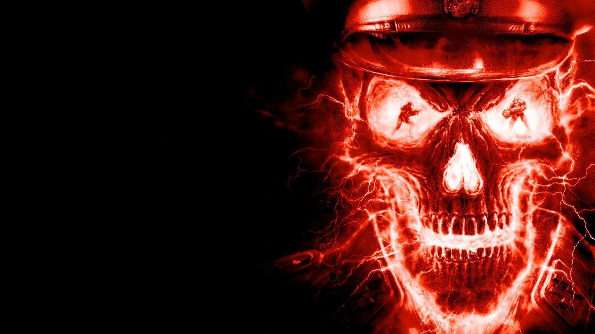 1920x1080 Cool Flaming Skull Wallpapers Images & Pictures - Becuo