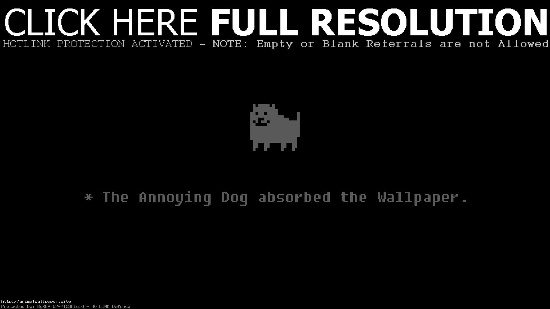 1920x1080 Great Undertale Dog Phone Wallpaper