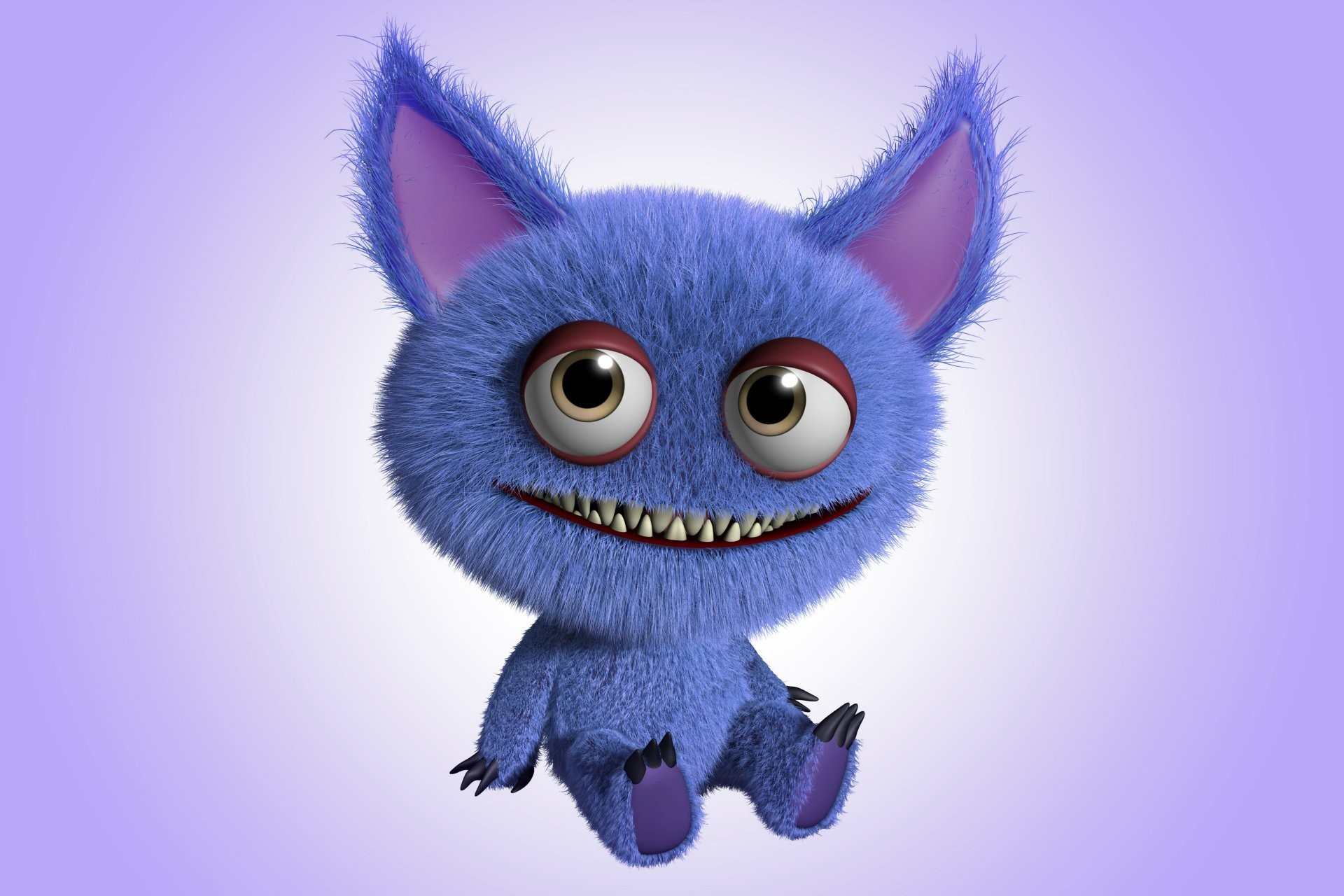 monster cartoon cute 3d funny fluffy animated monsters cartoons inc got smile entertainment ve desktop ears eyes adult