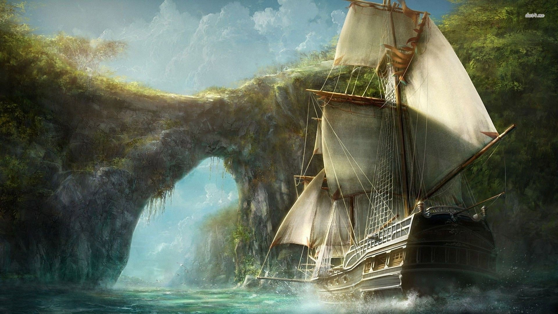 1920x1080 Ship Fantasy Wallpapers | WallpapersIn4k.net