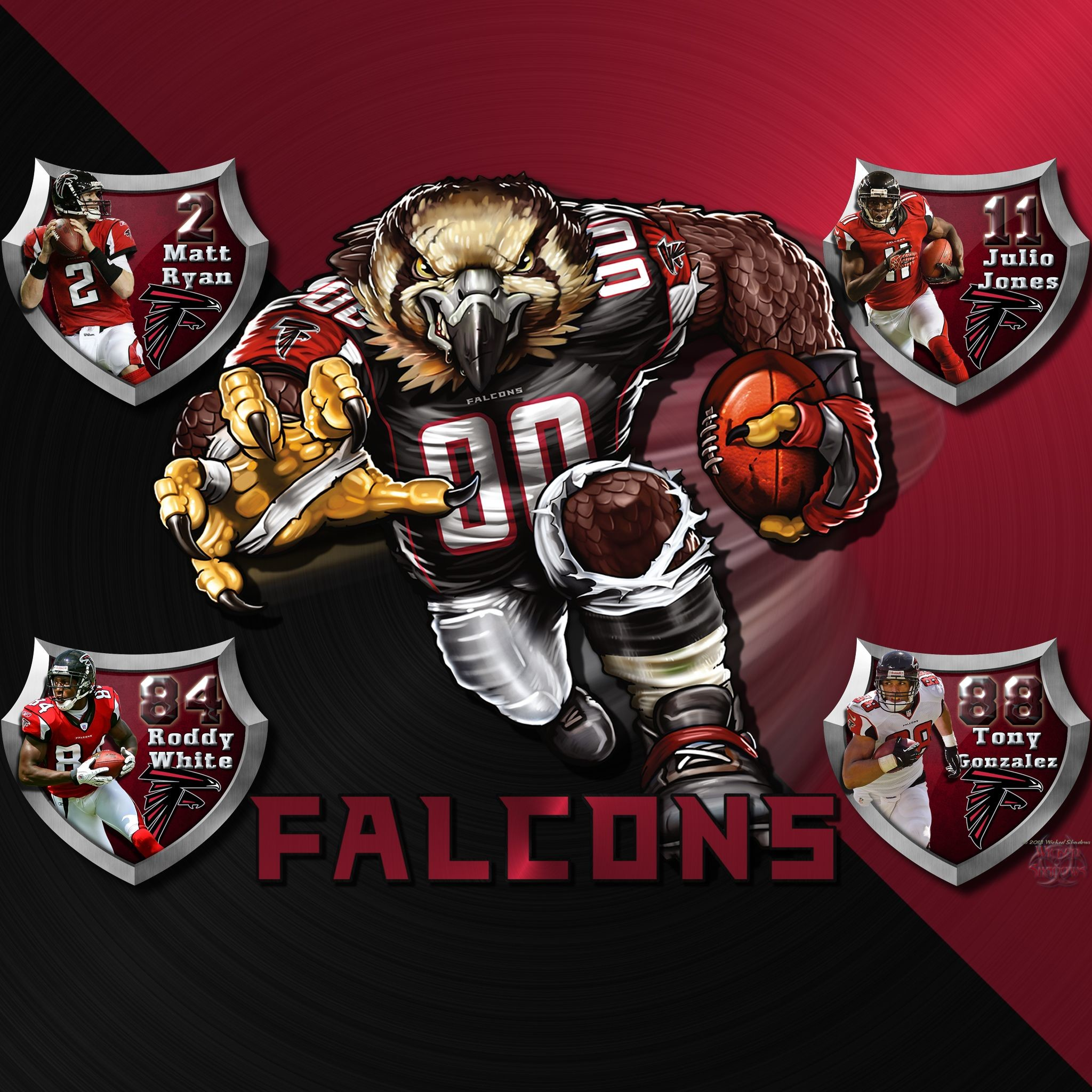 2048x2048 Atlanta Falcons Logo Wallpaper | IPhone / iPod Touch | Ipad | Android  Universal | Tablet