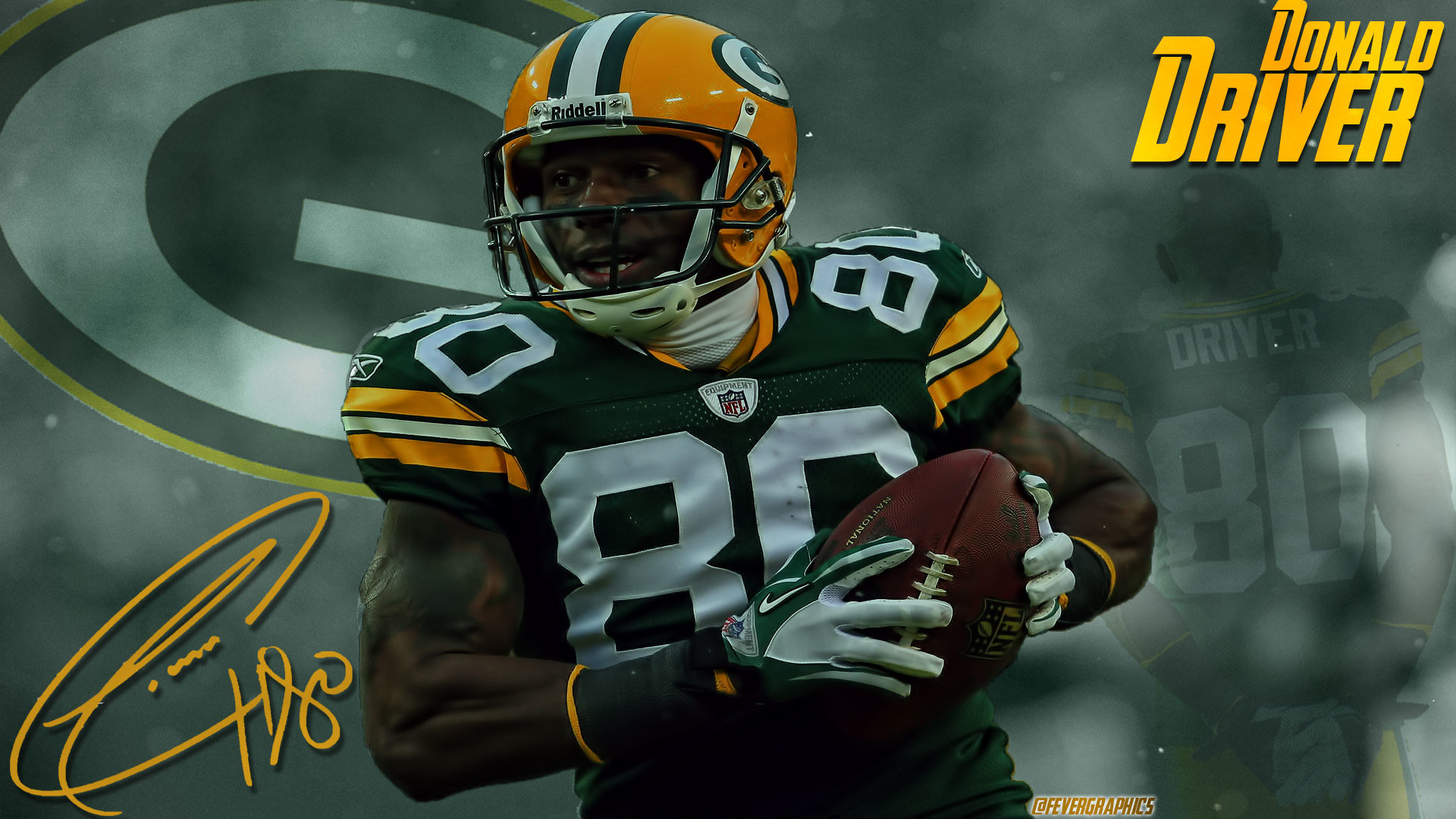 1920x1080 Packers sub, I whipped up a Donald Driver wallpaper for whoever wants to  use it. I take requests and such, I hope you guys like it!