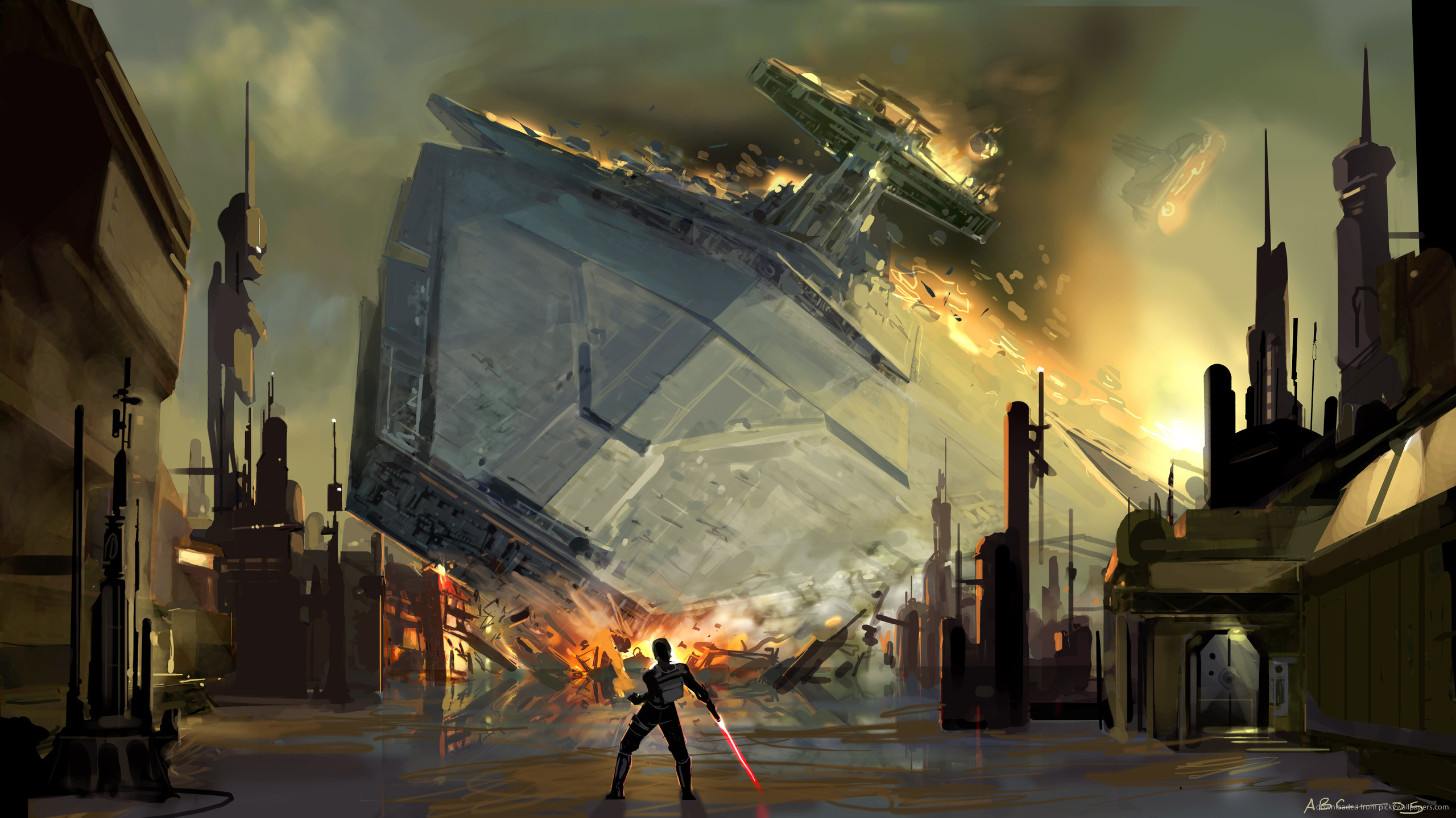 2560x1440 SWTFU Star Destroyer force pull for