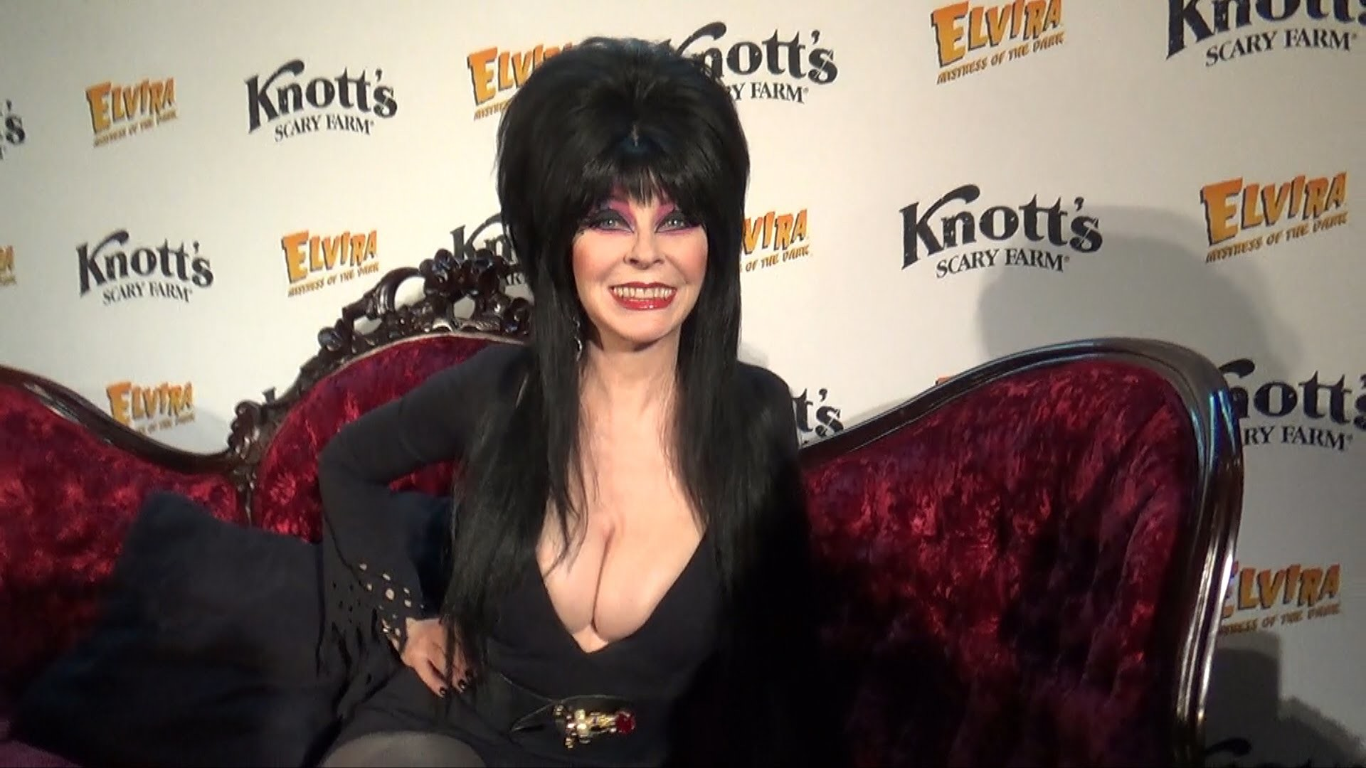 1920x1080 Elvira: Mistress of the Dark (Cassandra Peterson) Interview at Knott's  Scary Farm Halloween Preview - YouTube
