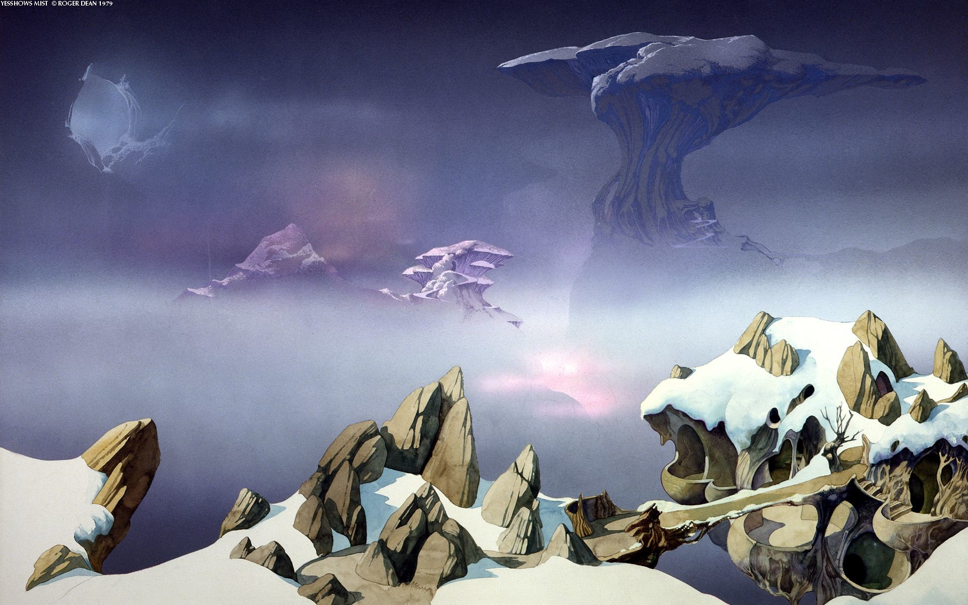 1920x1200 Yesshows Mist - Roger Dean | The Beauty of Art Objects 1 .