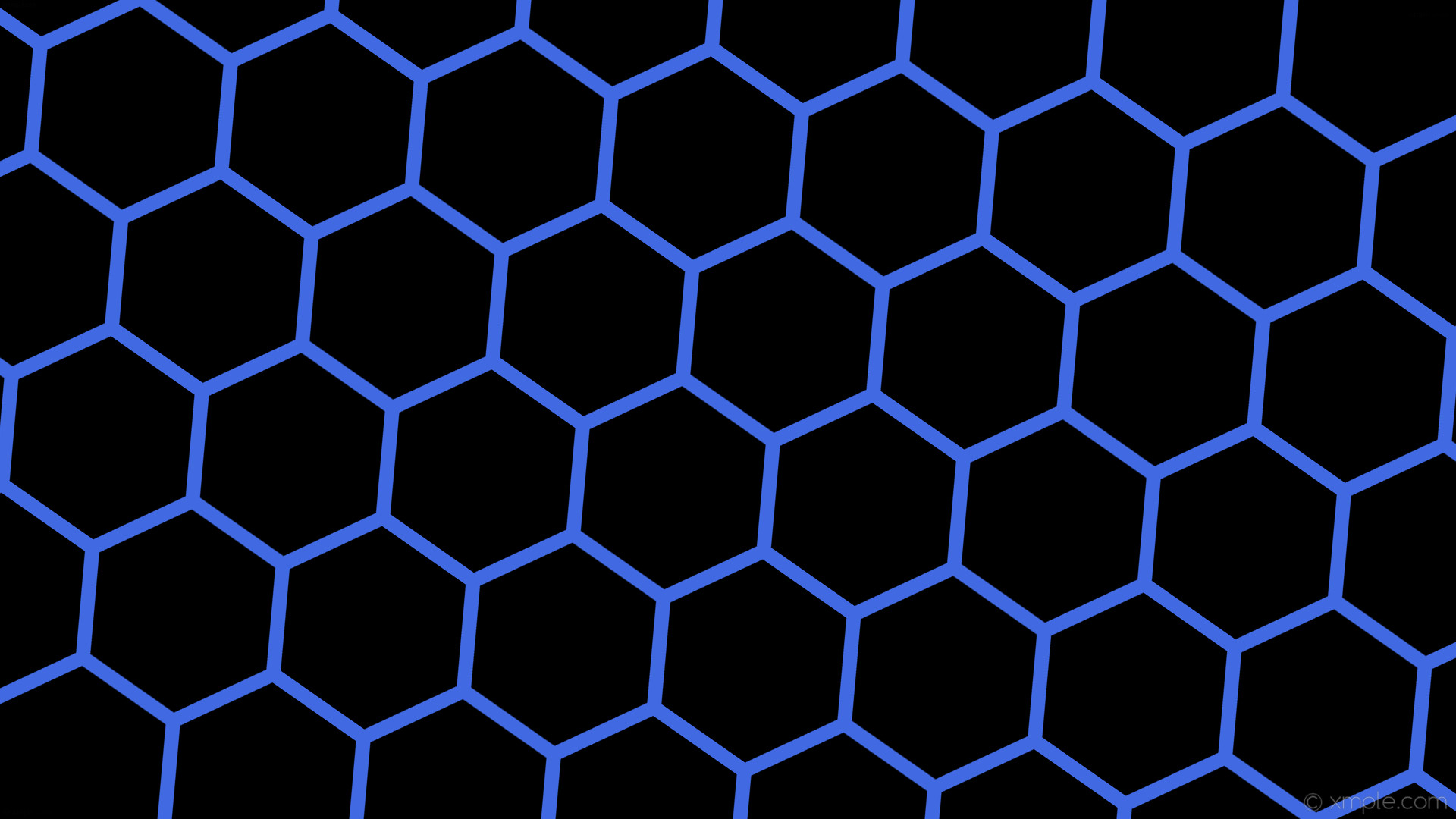1920x1080 wallpaper beehive blue honeycomb hexagon black royal blue #000000 #4169e1  diagonal 55° 19px