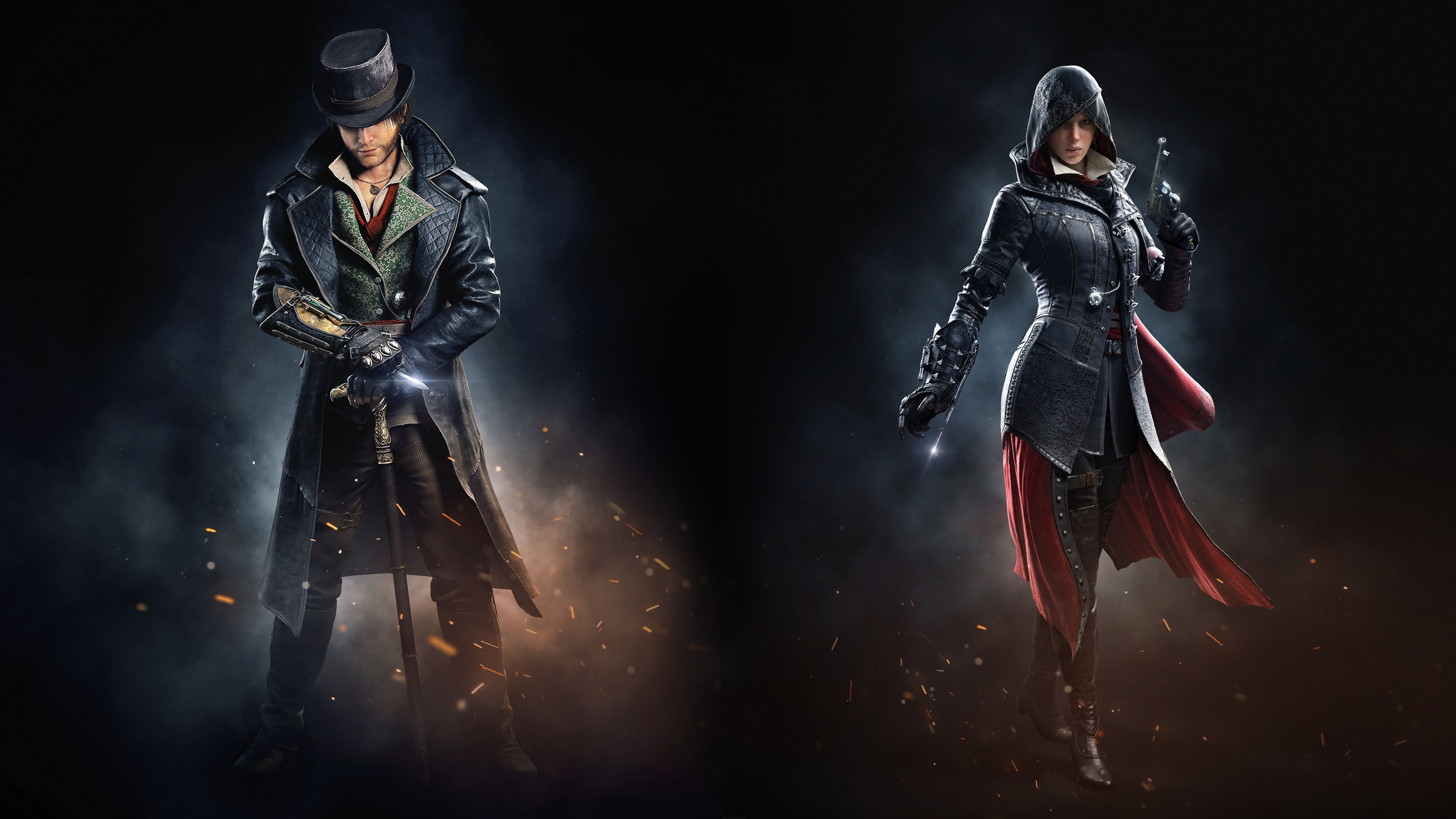 3840x2160 Evie Frye, Video Games, Assassins Creed Syndicate, Jacob Frye, Crysis  Wallpapers HD / Desktop and Mobile Backgrounds