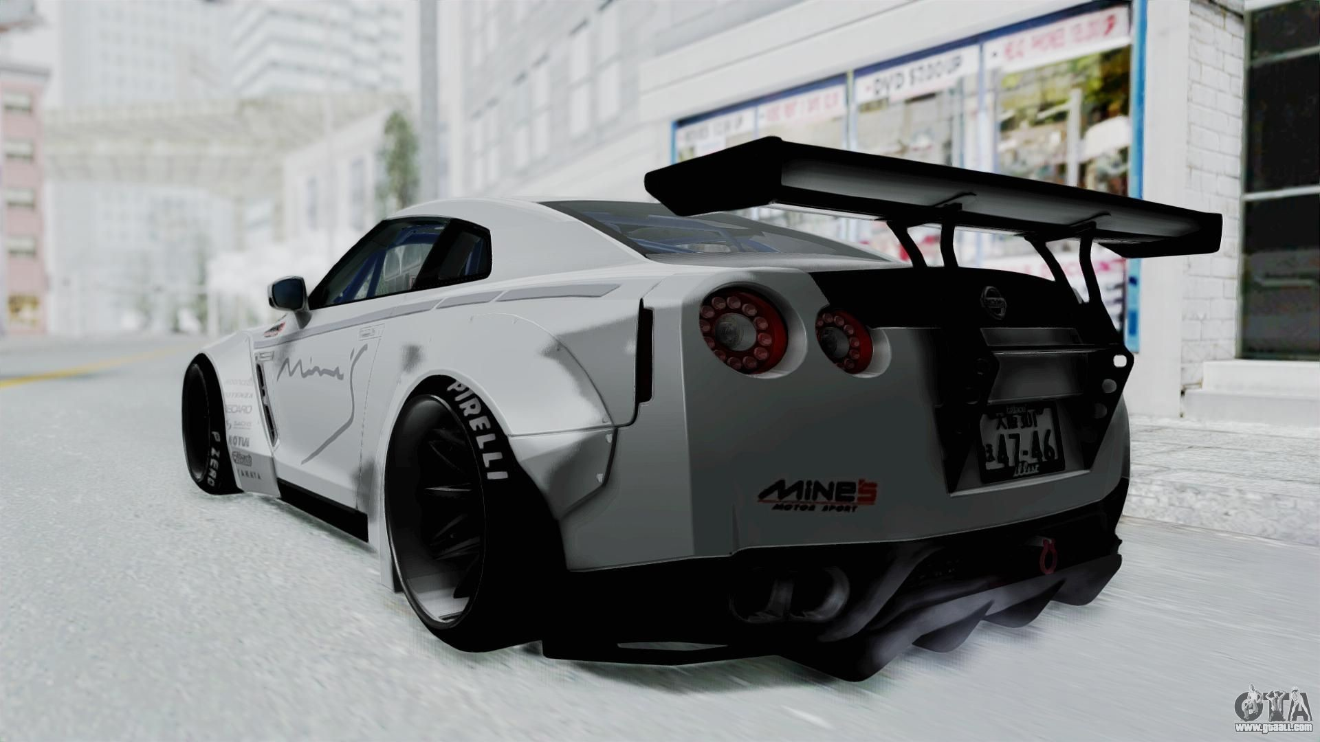 1920x1080 Nissan GT-R R35 2010 Liberty Walk for GTA San Andreas left view
