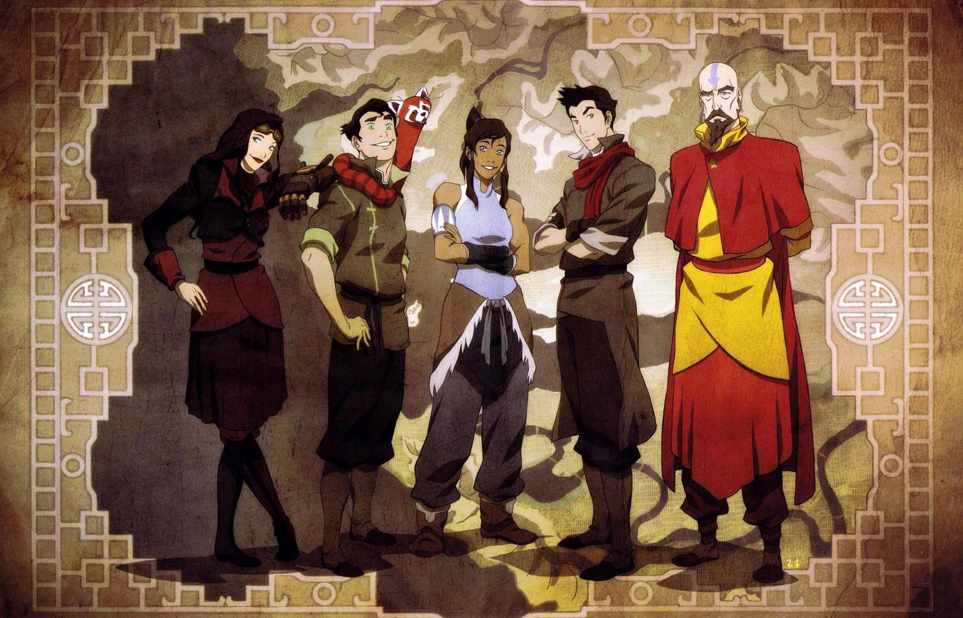 1920x1233 the legend of korra avatar: the legend of korra korra avatar avatar asami  sato bolin