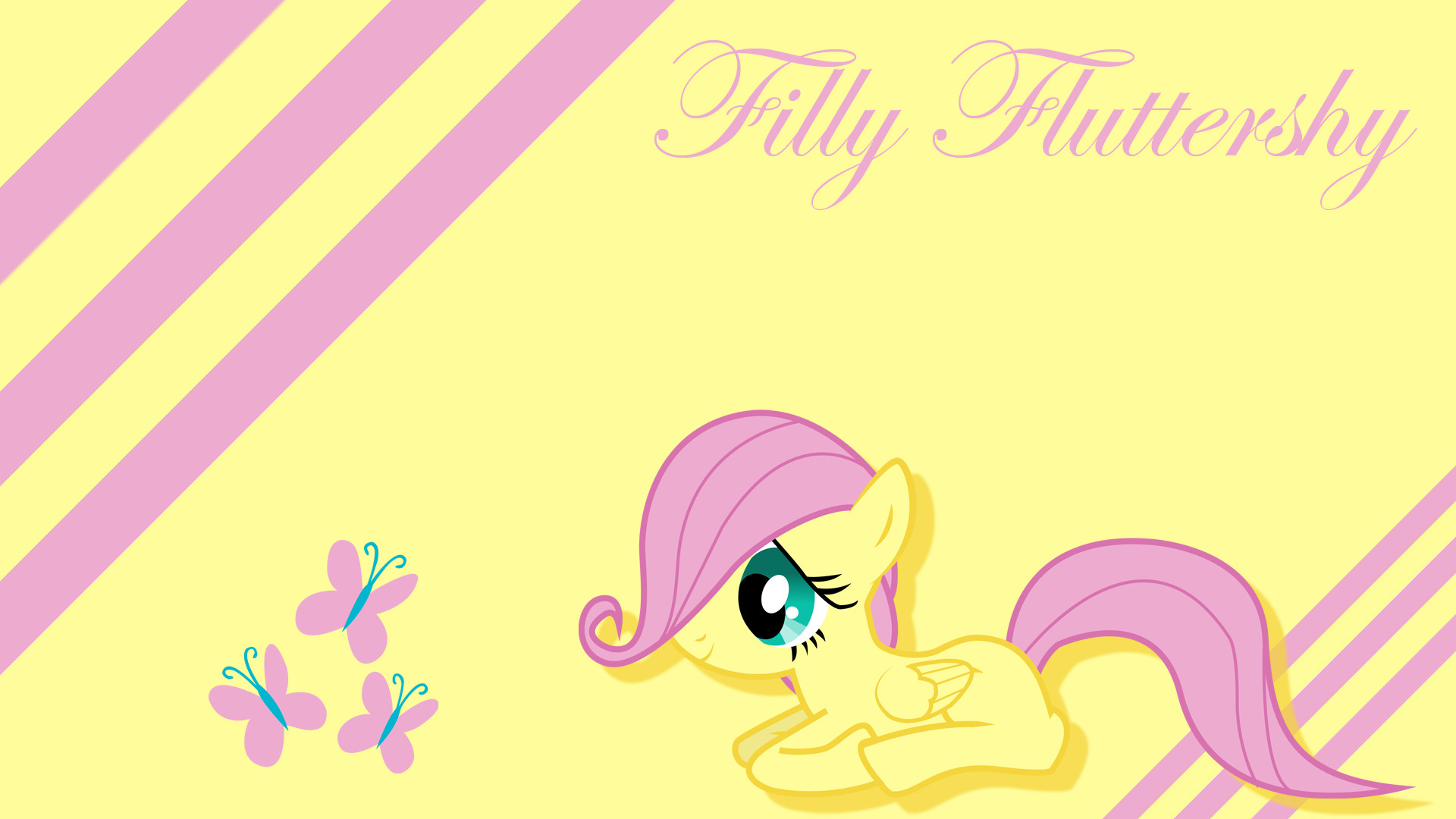 1920x1080 Filly Fluttershy Wallpaper by Silentmatten Filly Fluttershy Wallpaper by  Silentmatten