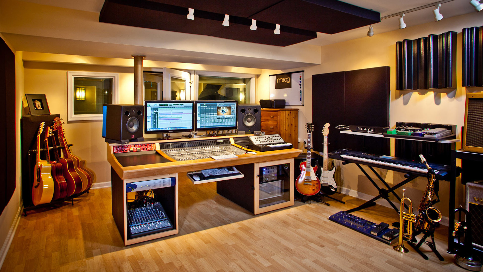 1920x1080 Recording Studio Wallpaper The recording studio