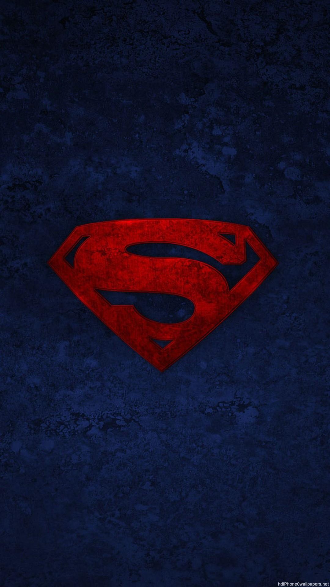 1080x1920 HD Superman logo iphone 6 wallpaper
