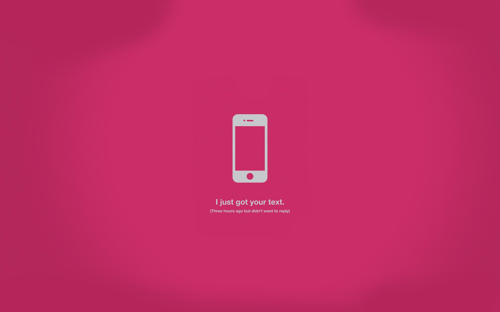 Wallpaper with message