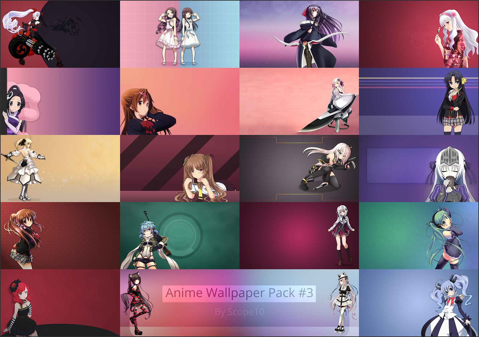 2000x1408 ... Anime Wallpaper Pack #3 by Scope10