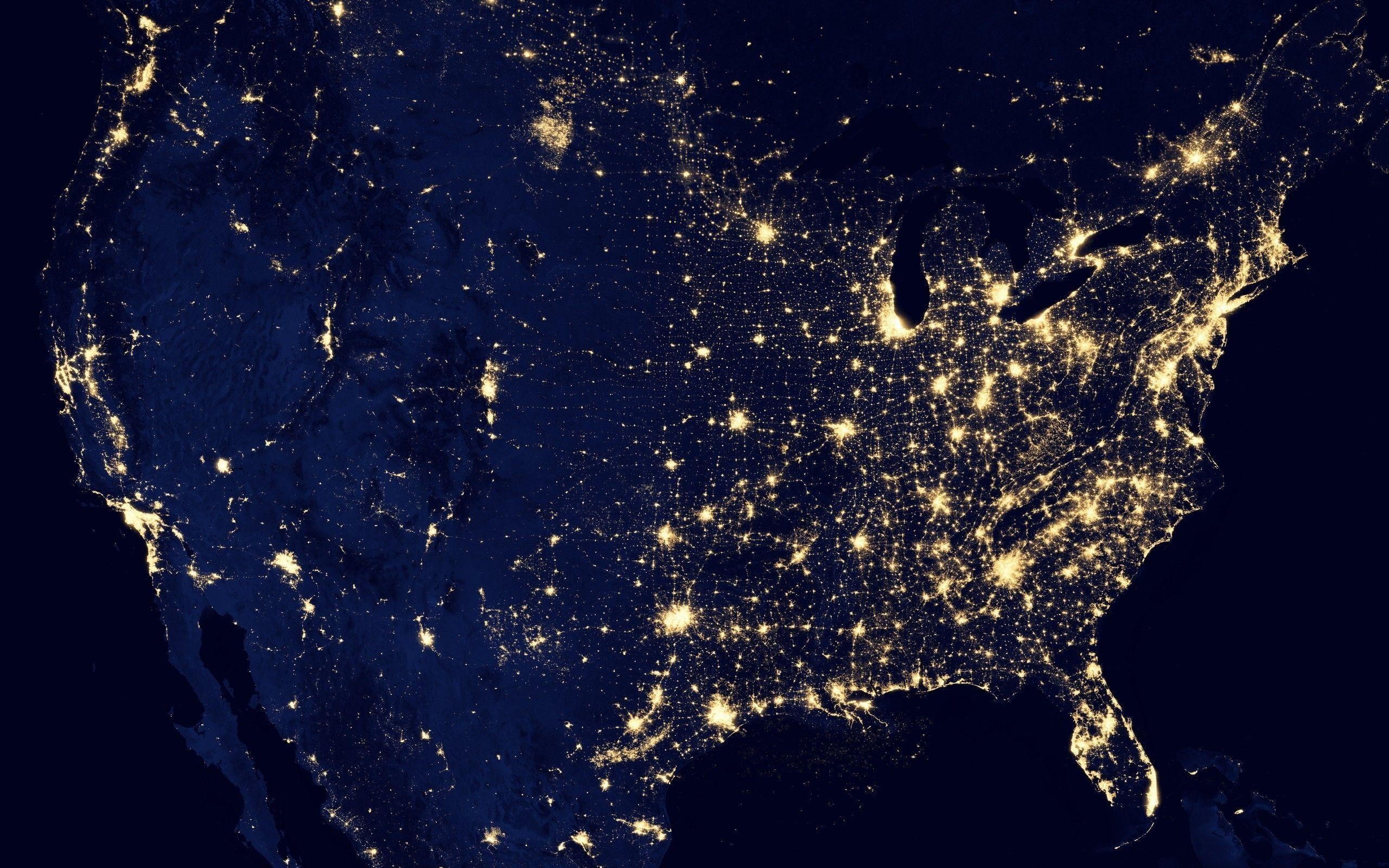 2560x1600 Grid map usa united states power electricity night lights space .