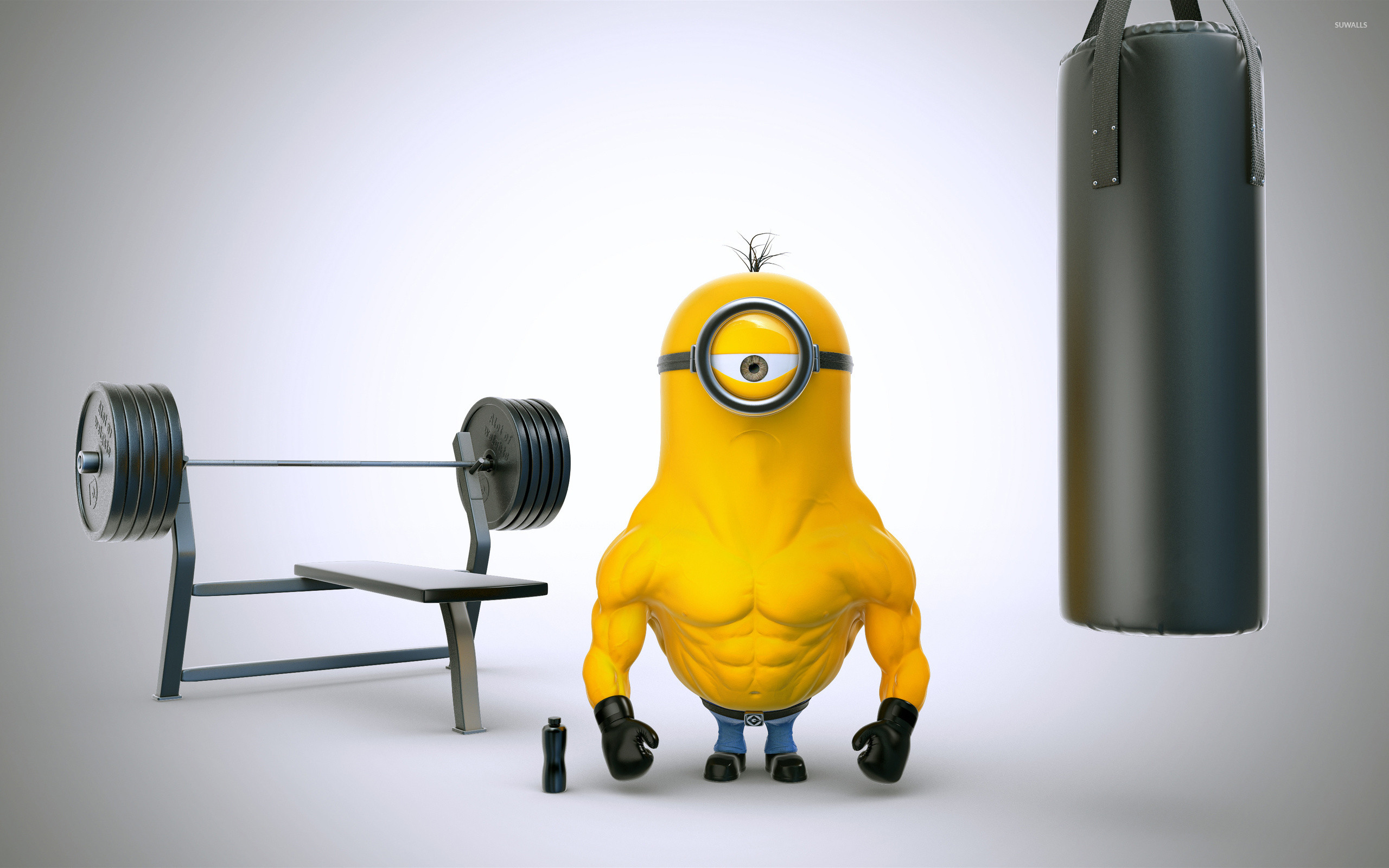 2560x1600 Minion with muscles wallpaper  jpg