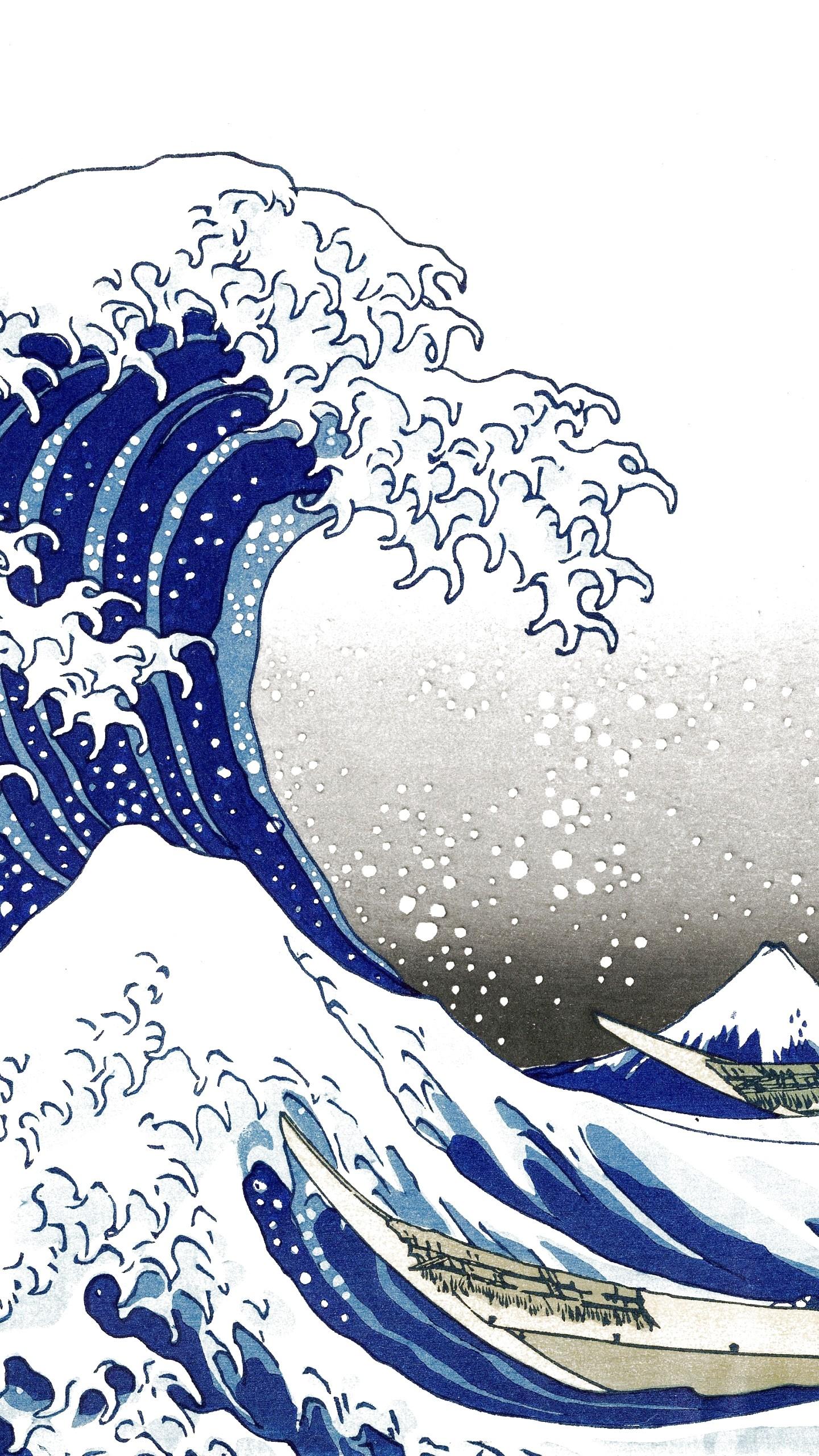 Great Wave Off Kanagawa Wallpaper 48 Images