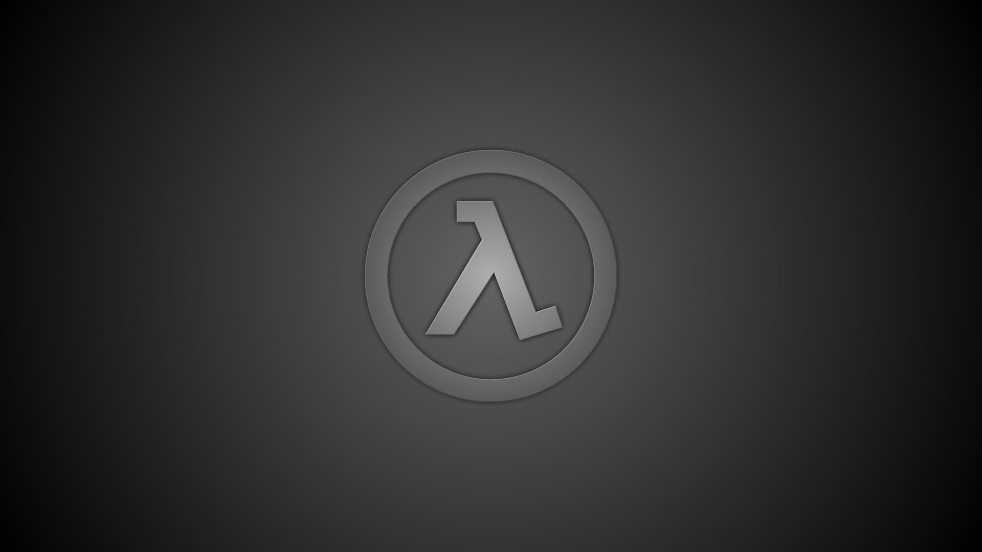 1920x1080  Wallpaper half-life, emblem, background, gray