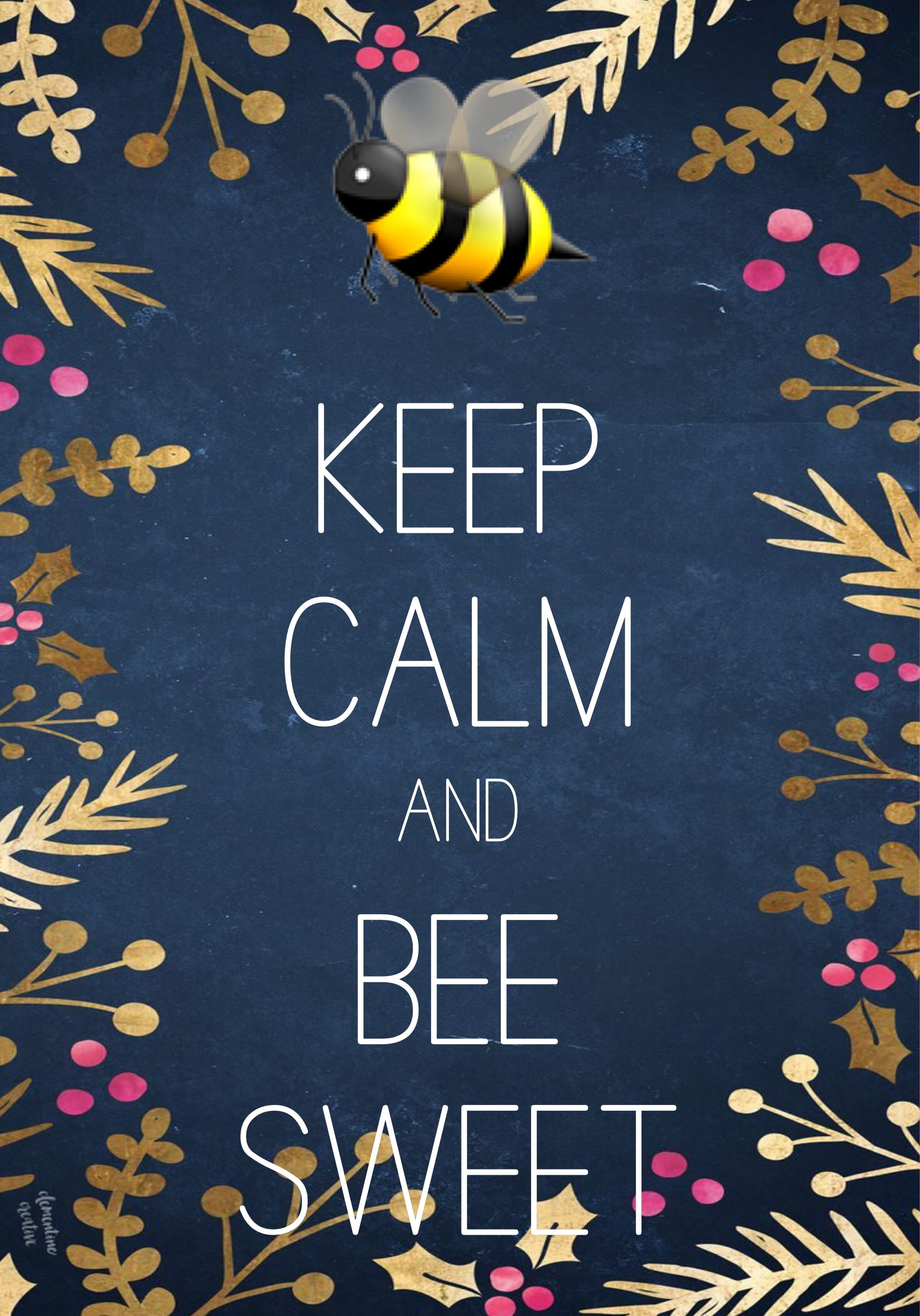 2097x3000 Keep calm and bee sweet made with Keep Calm and Carry On for iOS #keepcalm