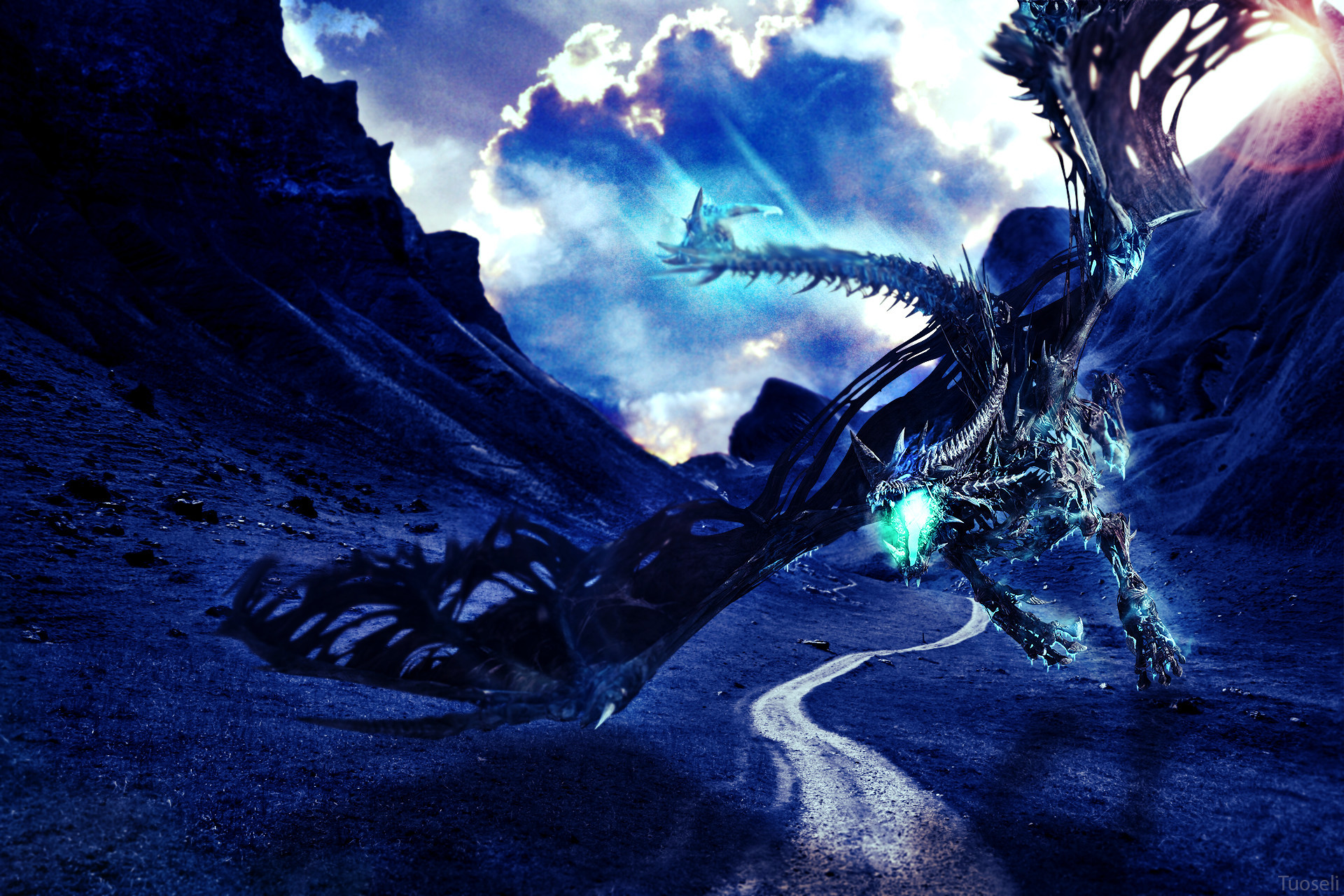 2828x1647 Ice Dragon HD Widescreen Wallpapers