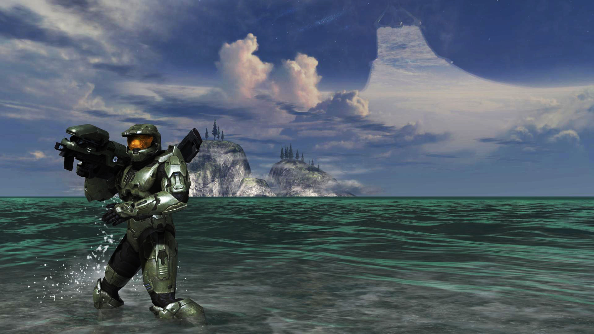 1920x1080 ... Master Chief - Halo 3 by Hischar