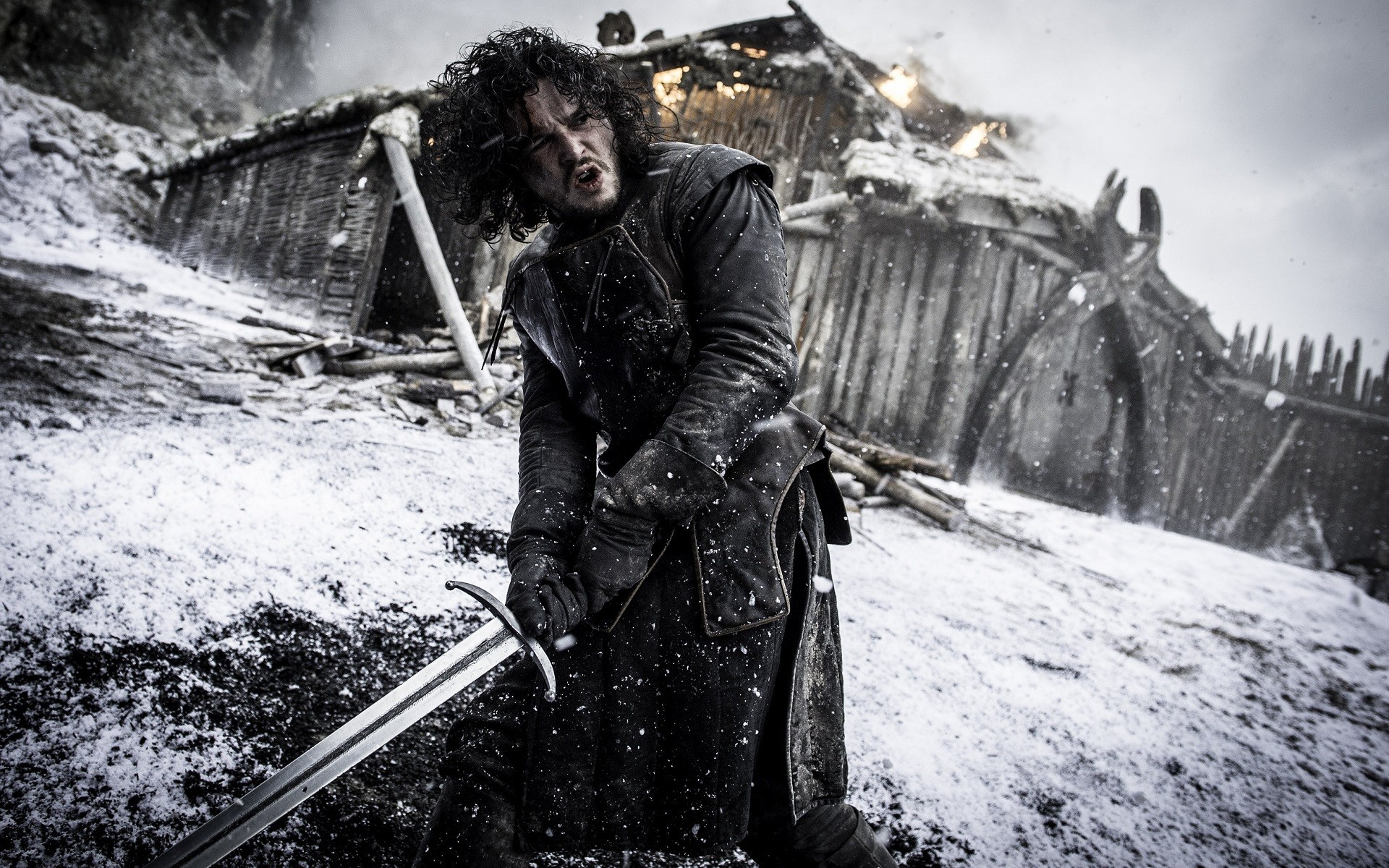 1920x1200 Warden Of The North Jon Snow