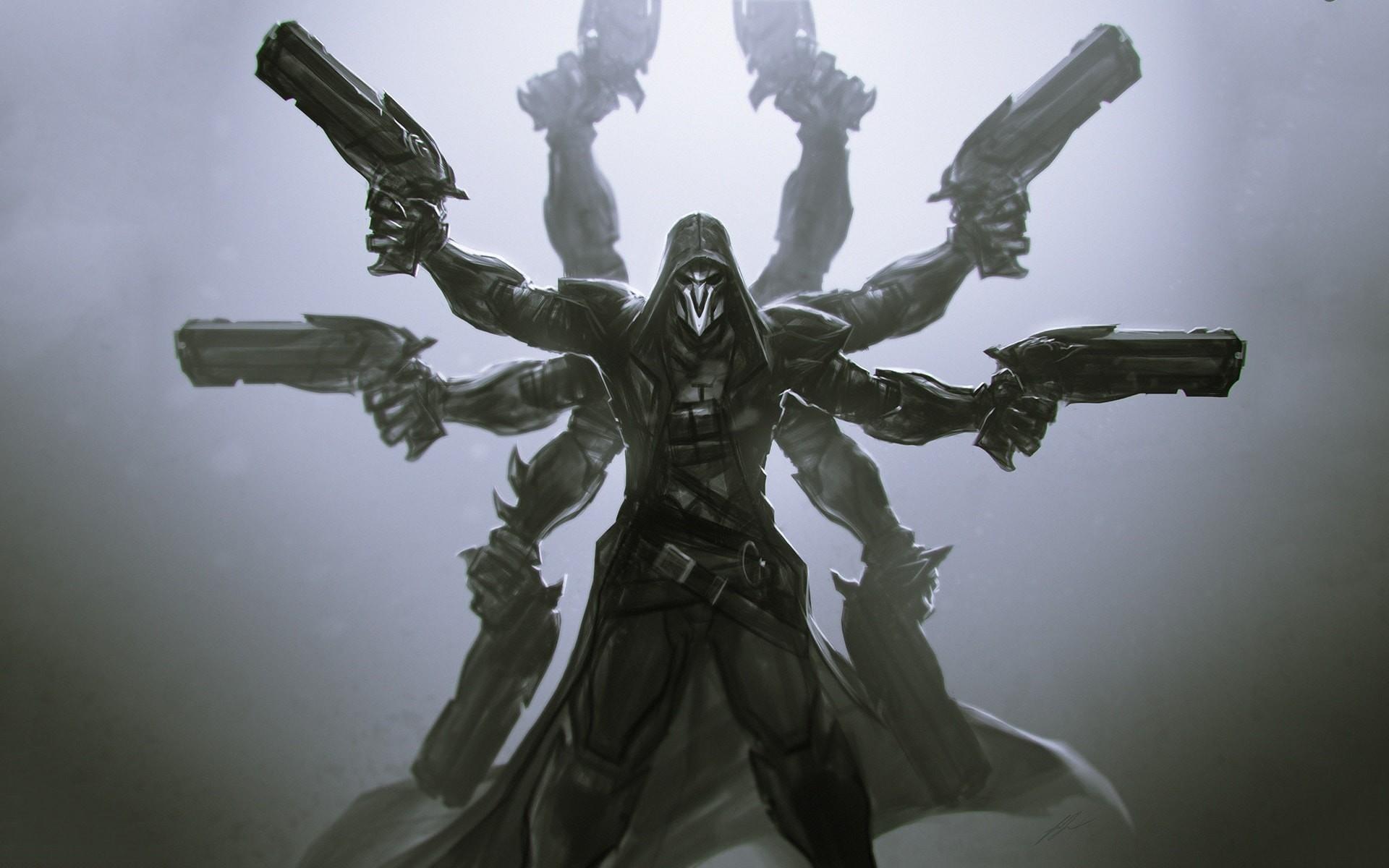 Overwatch reaper wallpapers 83 images - Reaper wallpaper ...
