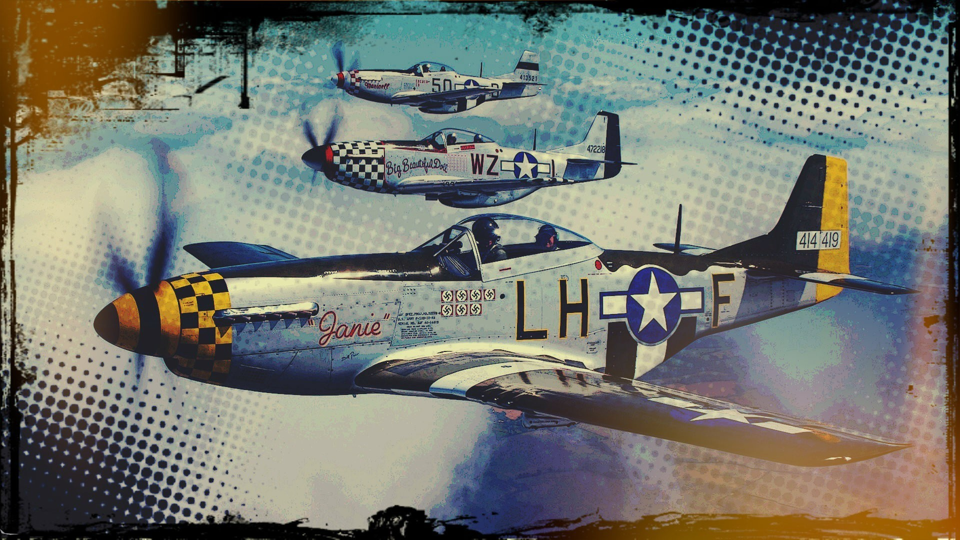 1920x1080 airplane, Pop Art, Vintage, Sky Wallpapers HD / Desktop and Mobile  Backgrounds