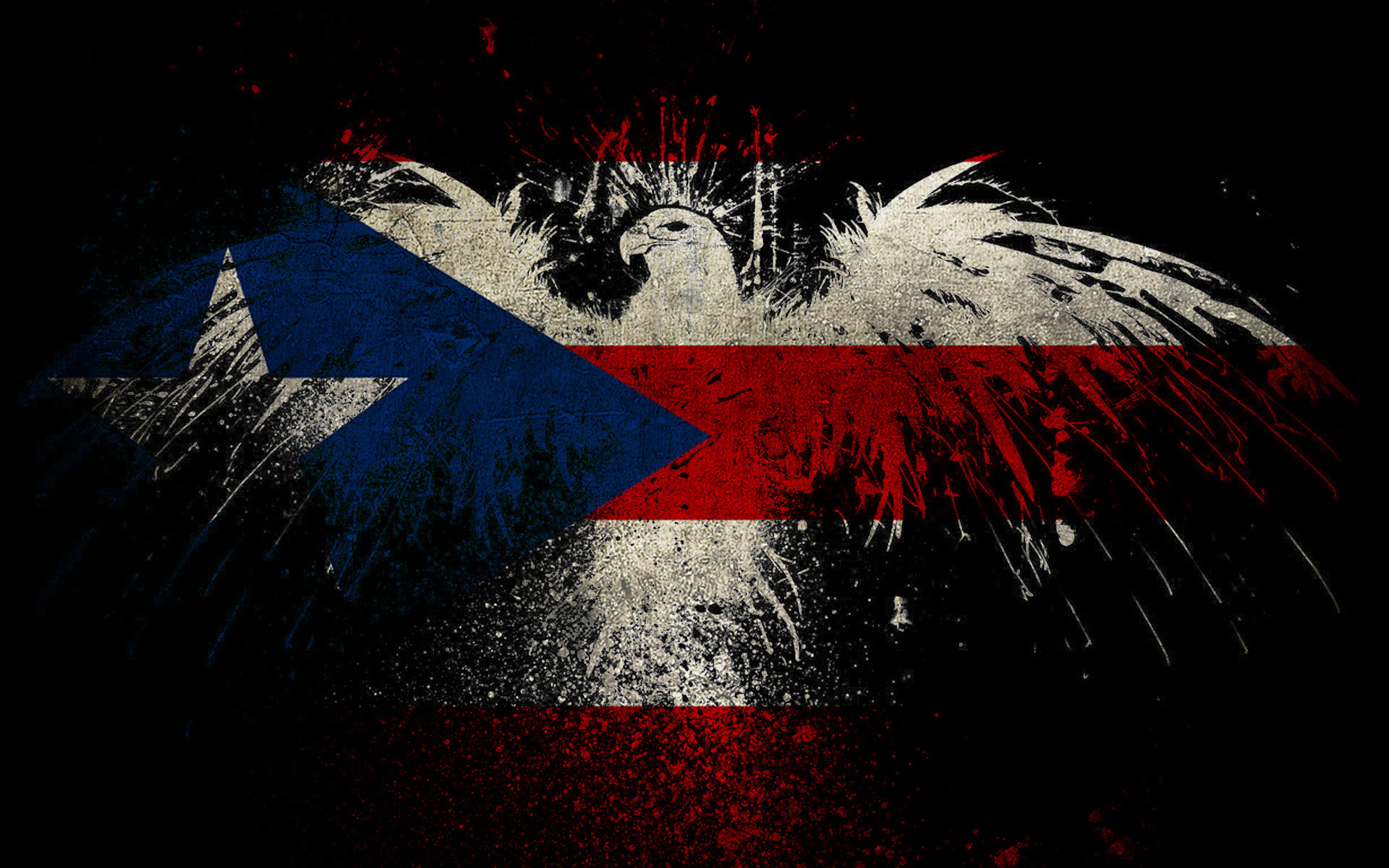 1920x1200 ... Eagle shaped Puerto Rico flag HD Wallpaper