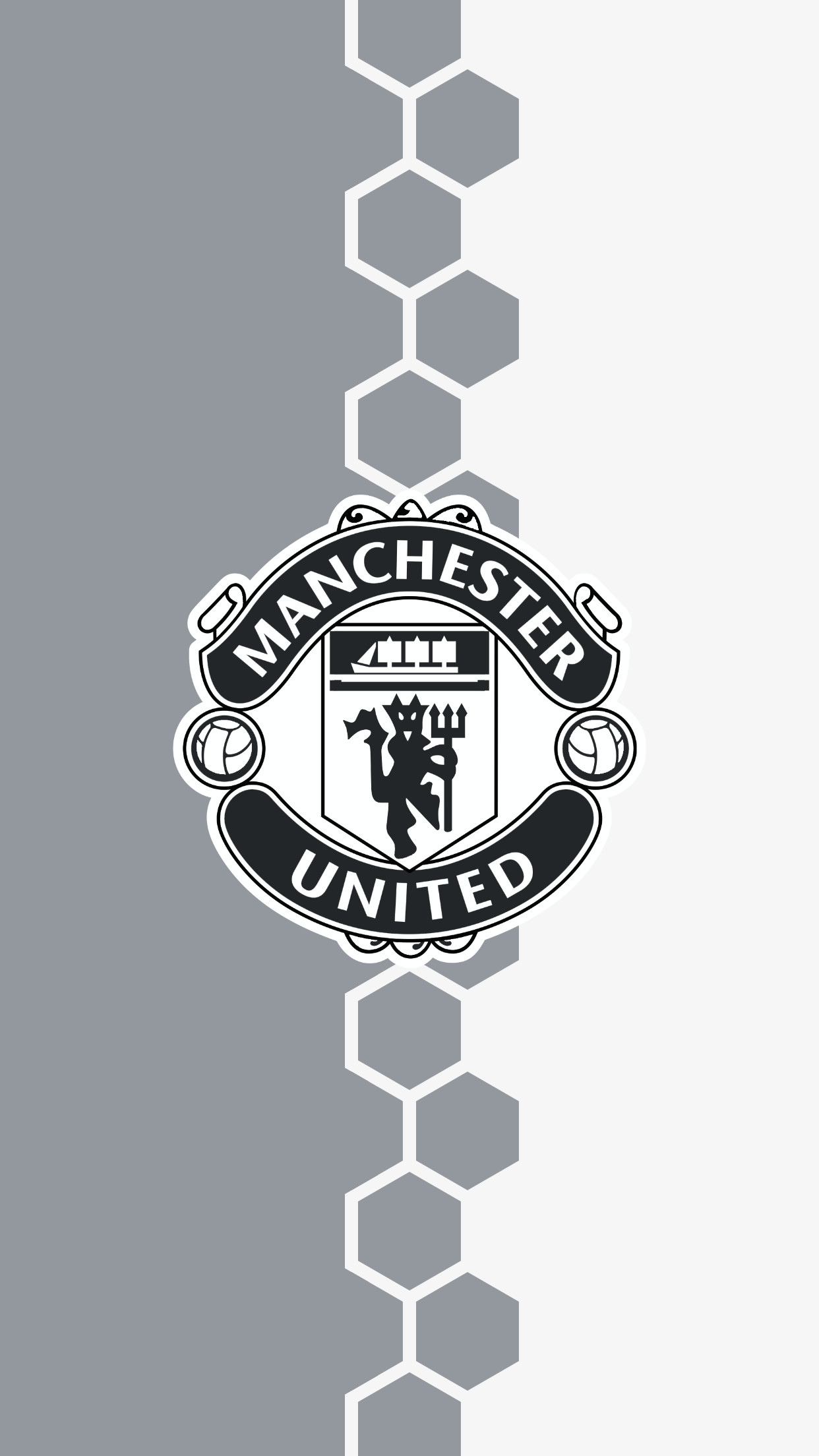 Man United Black And White Posters