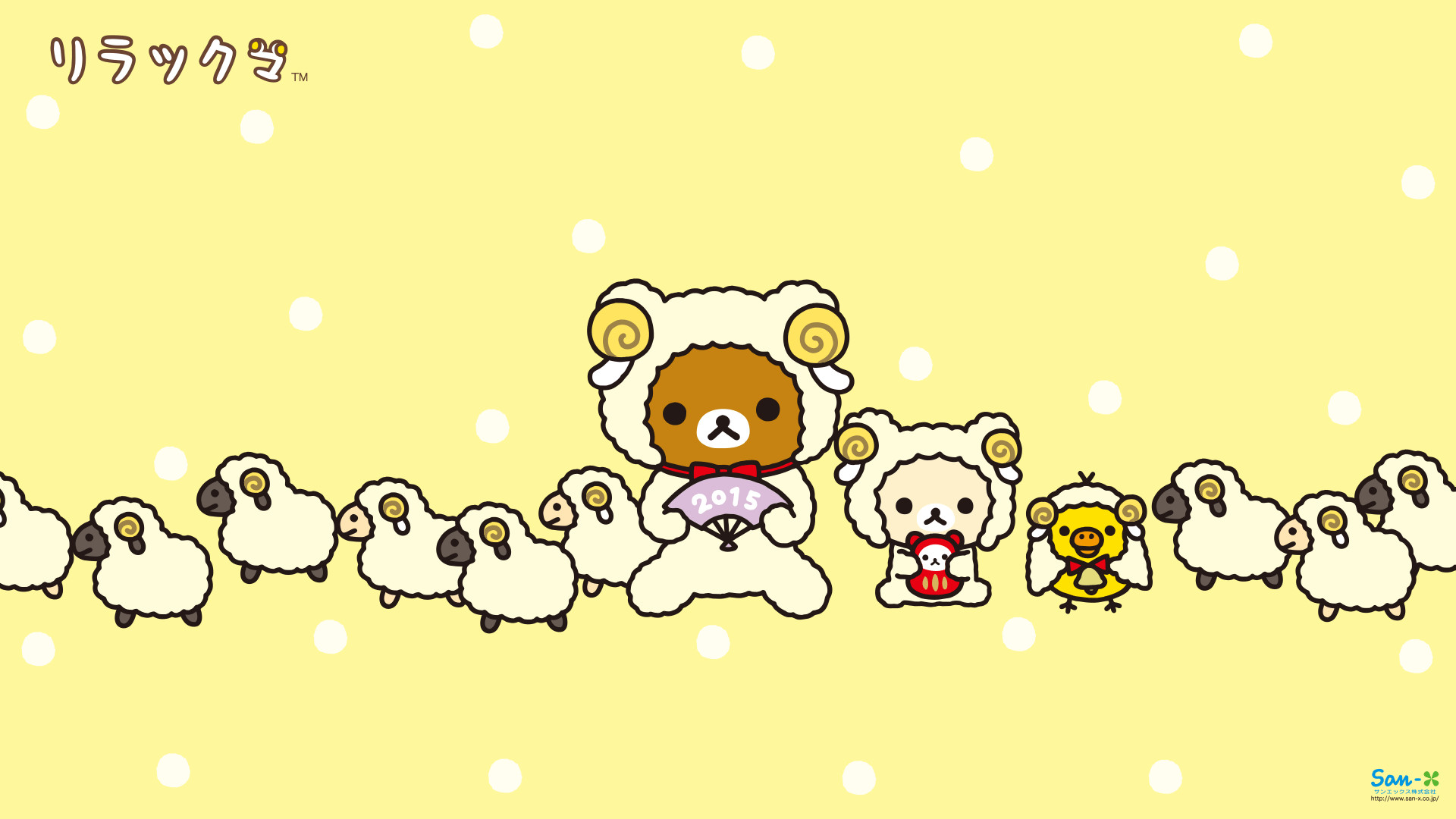 1920x1080 Rilakkuma Year of the Sheep Wallpaper