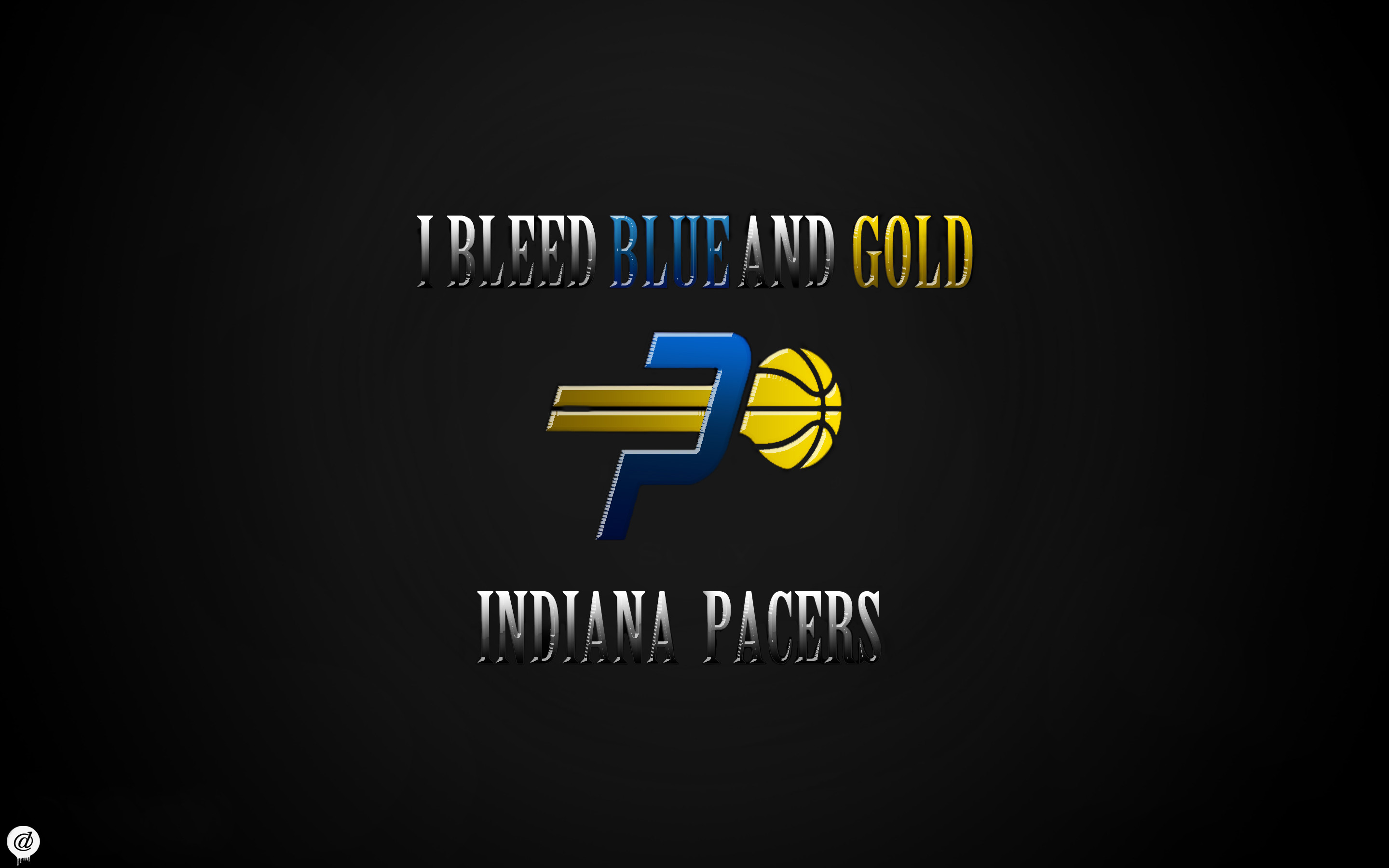 2880x1800 ... Indiana Pacers Wallpaper - I Bleed Blue and Gold by 31ANDONLY