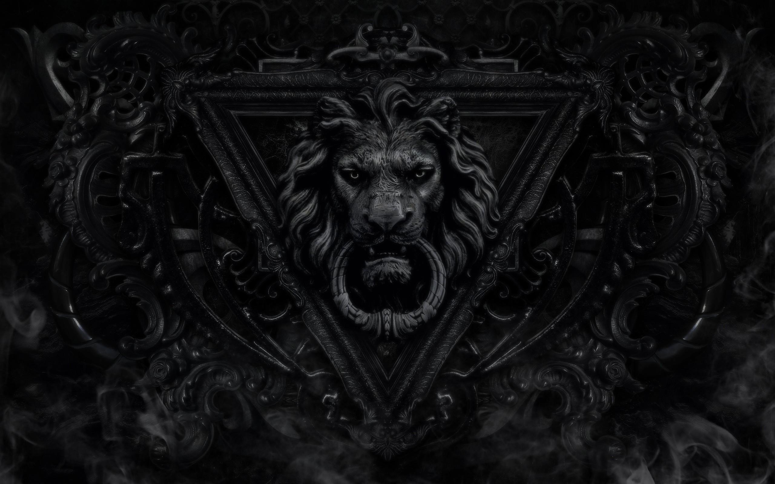 2560x1600 Lion Black And White Hd Desktop Wallpapers Jpg