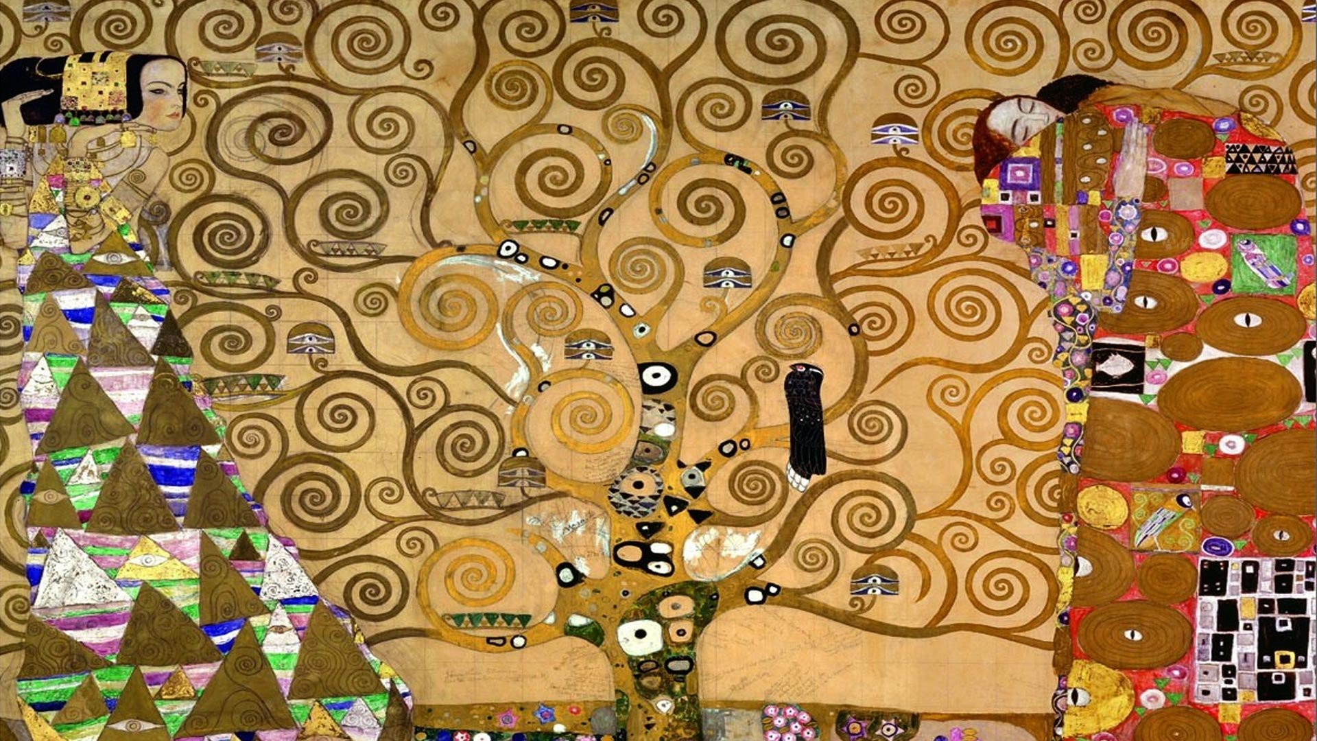 1920x1080 a Gustav Klimt wallpaper background symbolizing the design excellence of  Fred Fioto a Hocking Hills Website